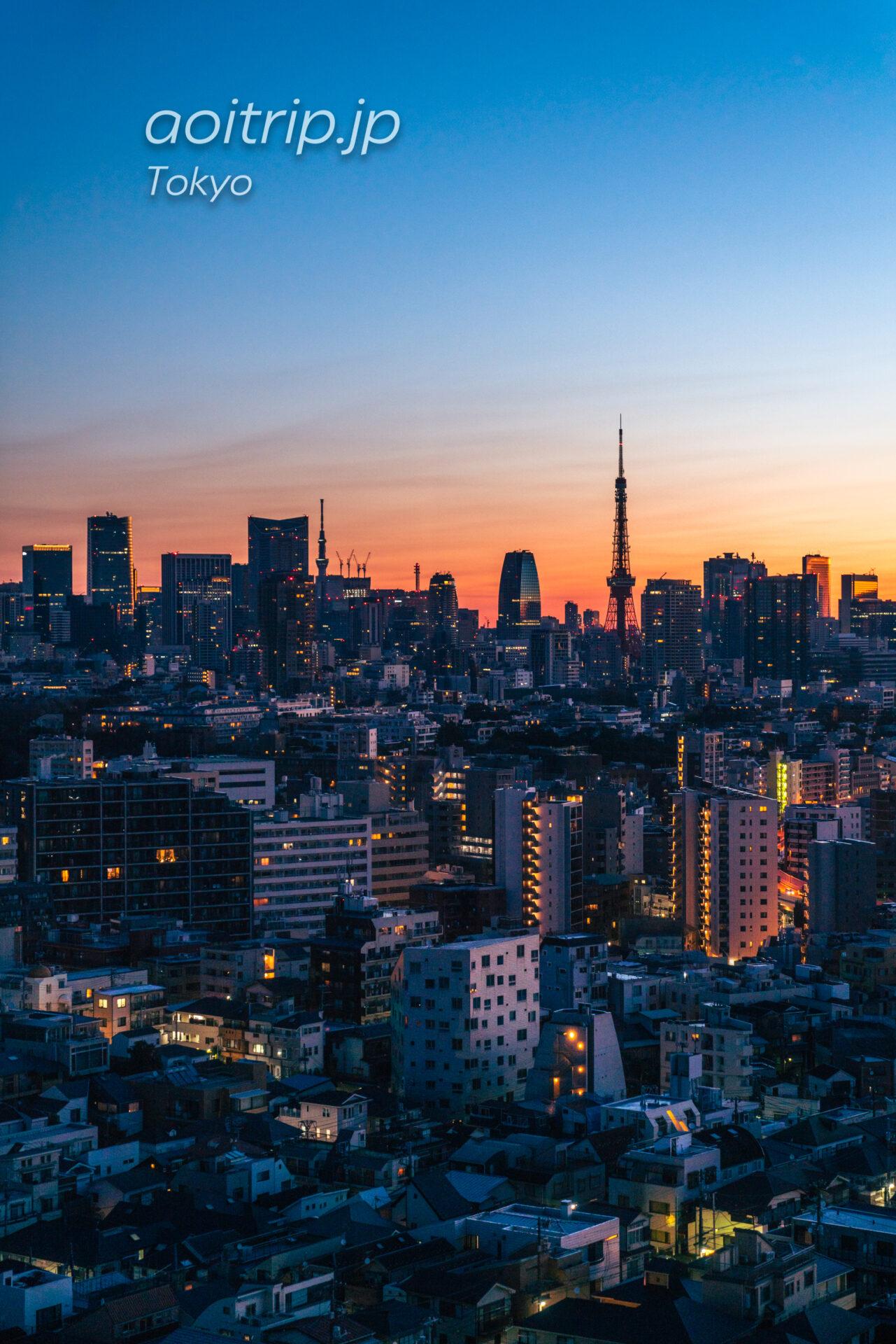 ウェスティンホテル東京 スイートルーム客室からの眺望 東京タワー、東京スカイツリー
