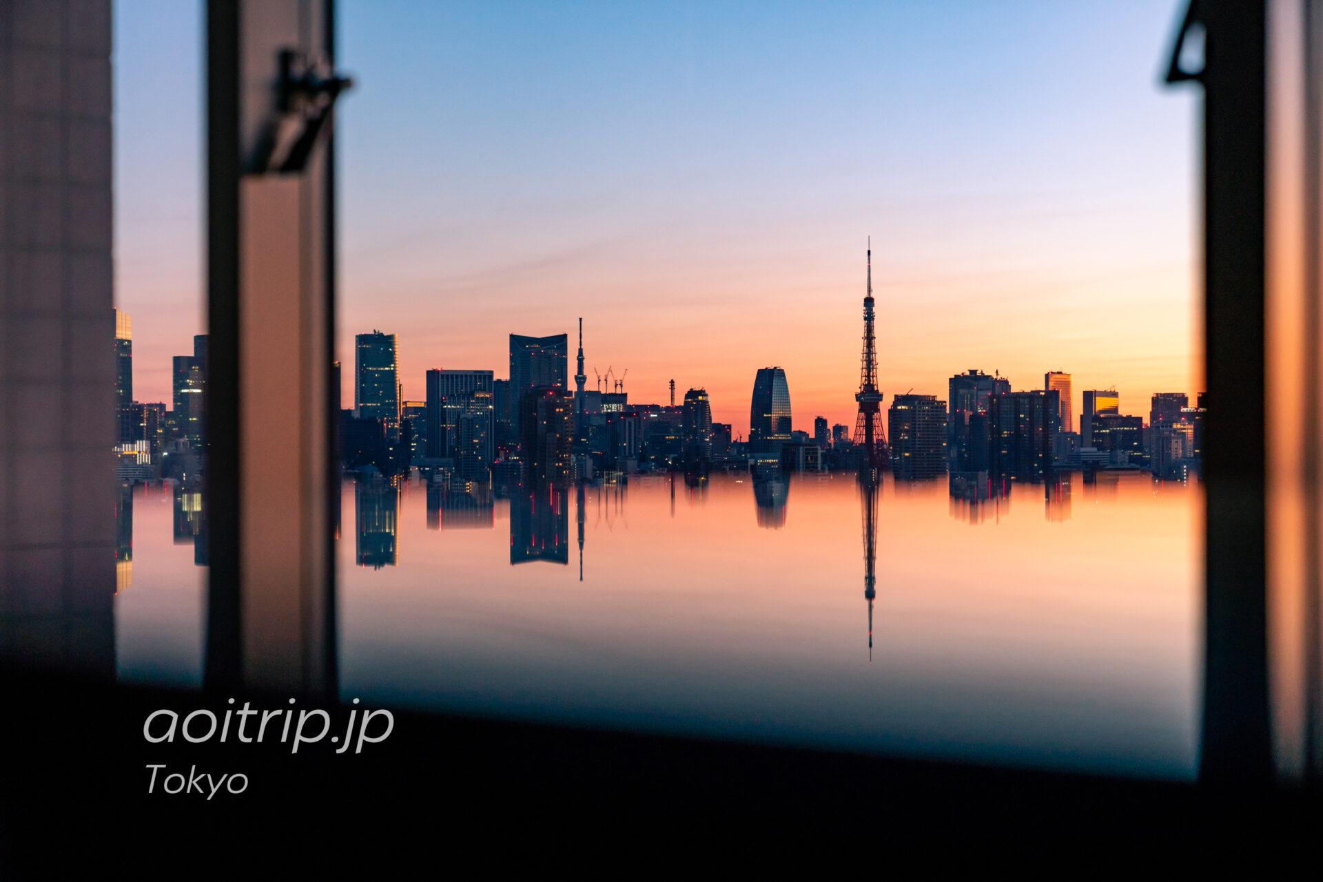ウェスティンホテル東京 スイートルーム客室からの眺望 東京タワー、東京スカイツリー「