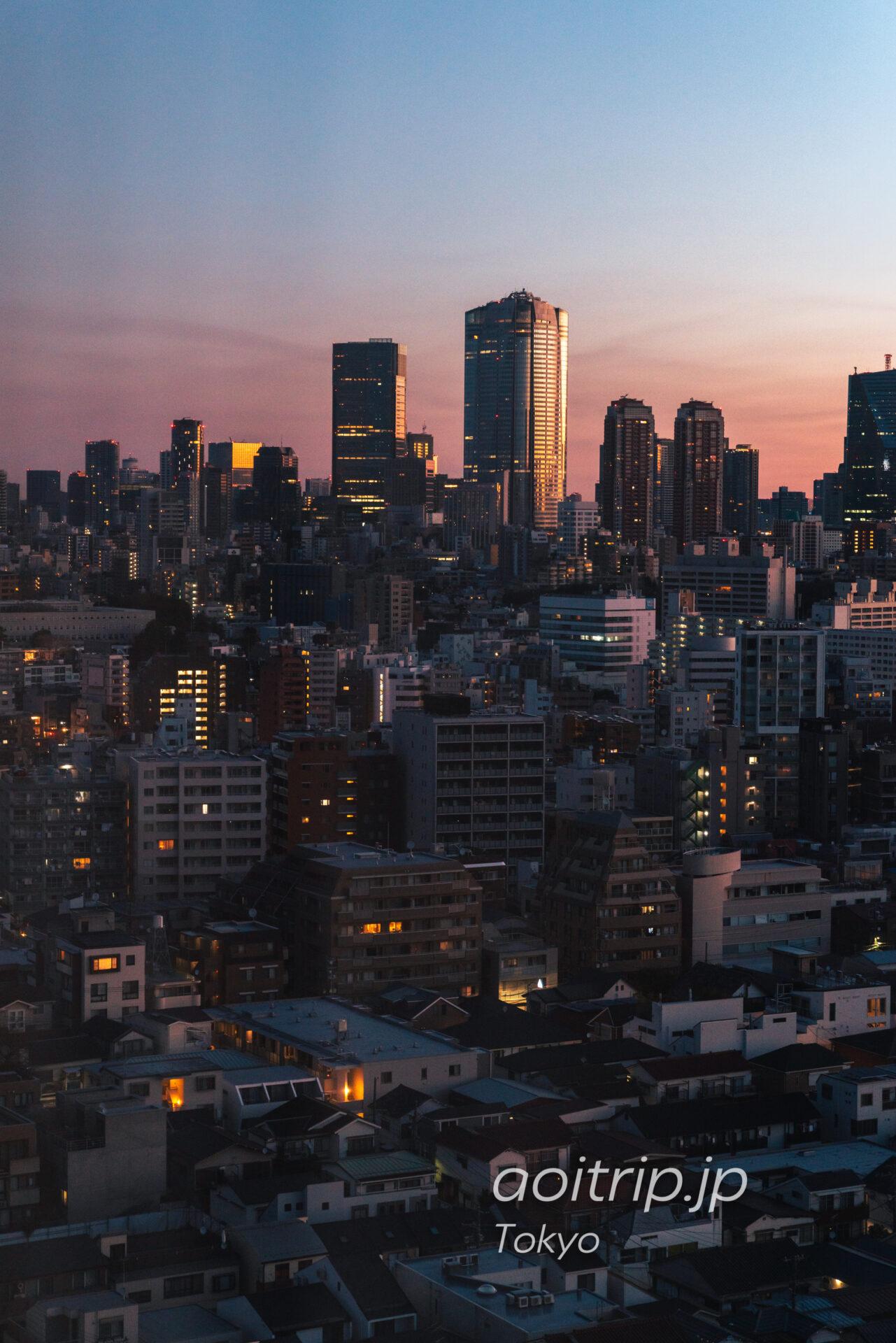 ウェスティン東京から六本木ヒルズ、東京ミッドタウン(ザ リッツカールトン東京)を望む