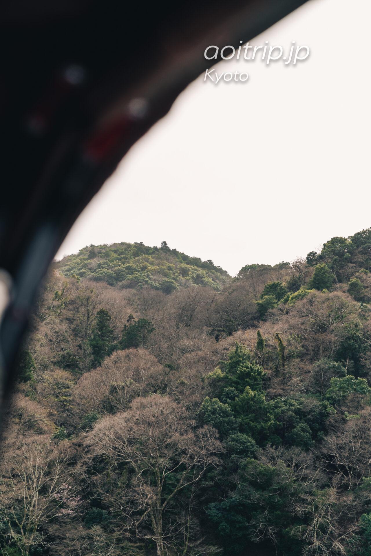 翠嵐 ラグジュアリーコレクションホテル 京都 観光人力車えびす屋の送迎時に見た嵐山