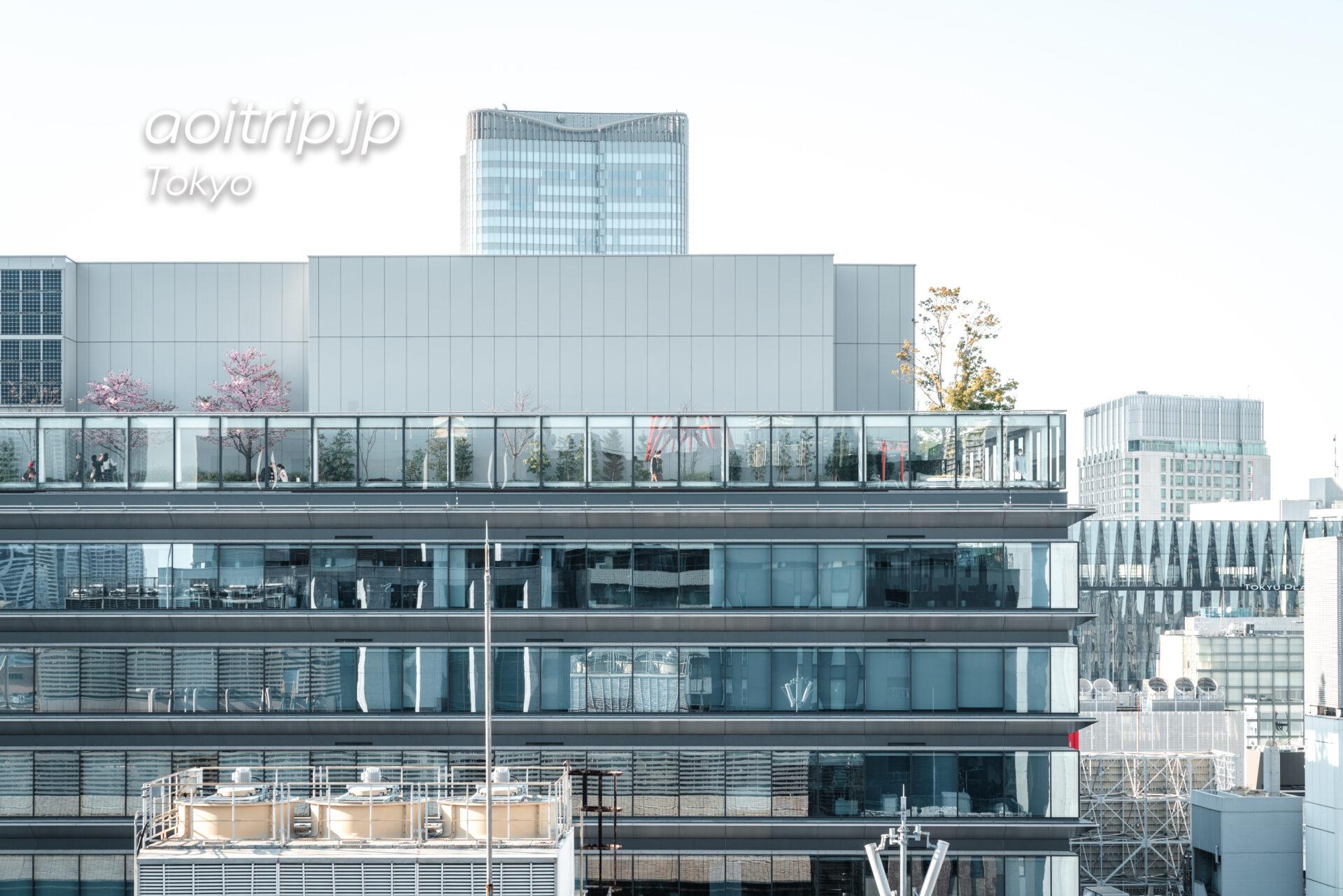 アロフト東京銀座から望むGINZA SIX
