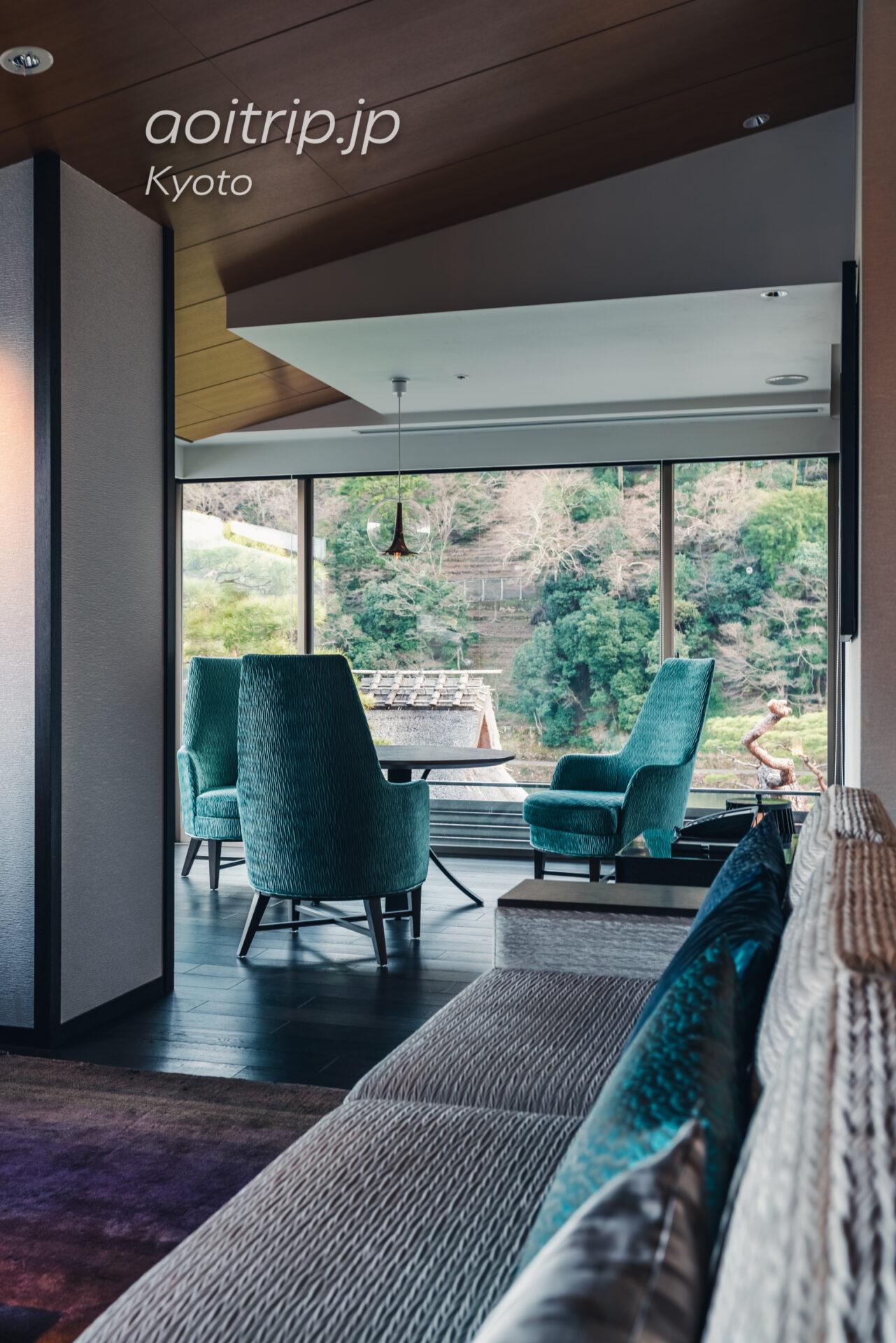 翠嵐(すいらん)プレジデンシャルコーナースイート SUIRAN 1 Bedroom Presidential Suite, 1 King, Hozu River view, Mountain view, Corner room