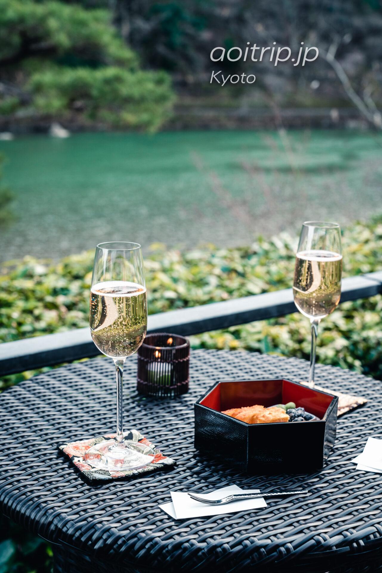 京都嵐山 茶寮八翠のシャンパン ディライト