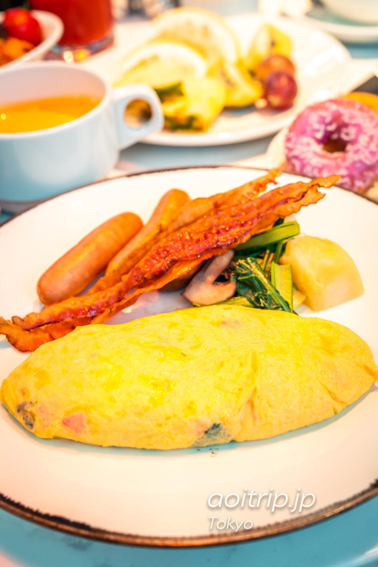 アロフト東京銀座 洋朝食のオムレツ