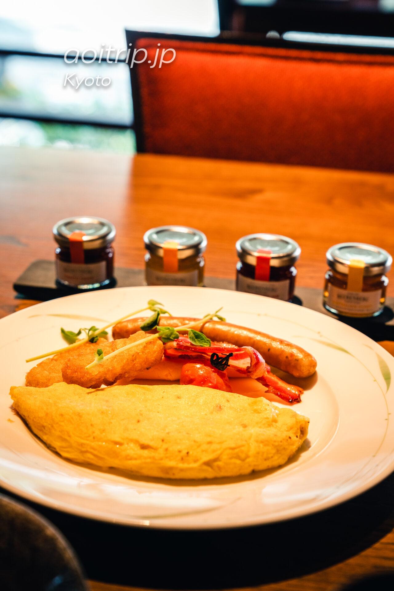 翠嵐 ラグジュアリーコレクションホテル 京都 レストラン京翠嵐の朝食オムレツ