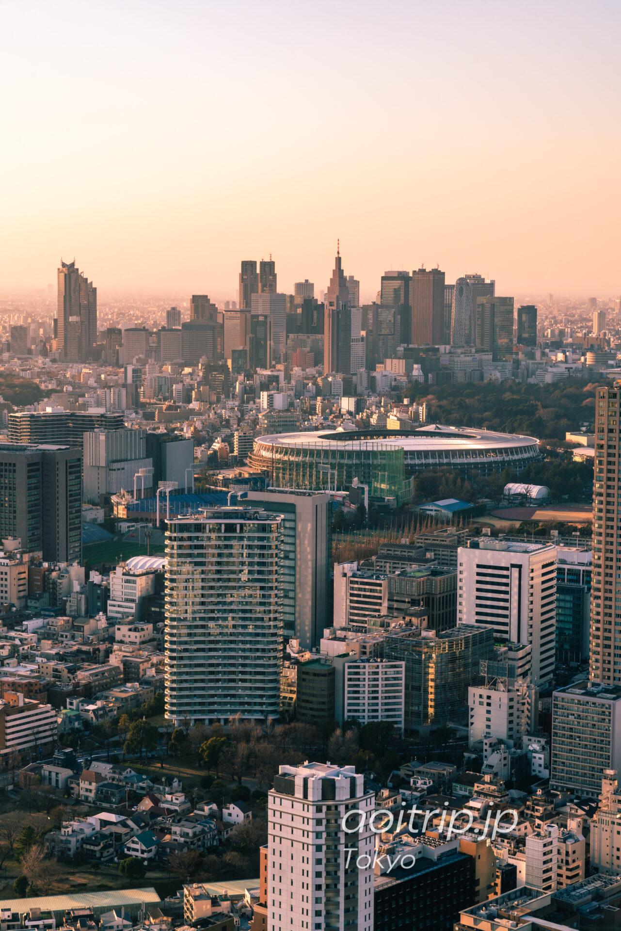 Tokyo Skyline ザ リッツカールトン東京から望む新宿副都心と国立競技場