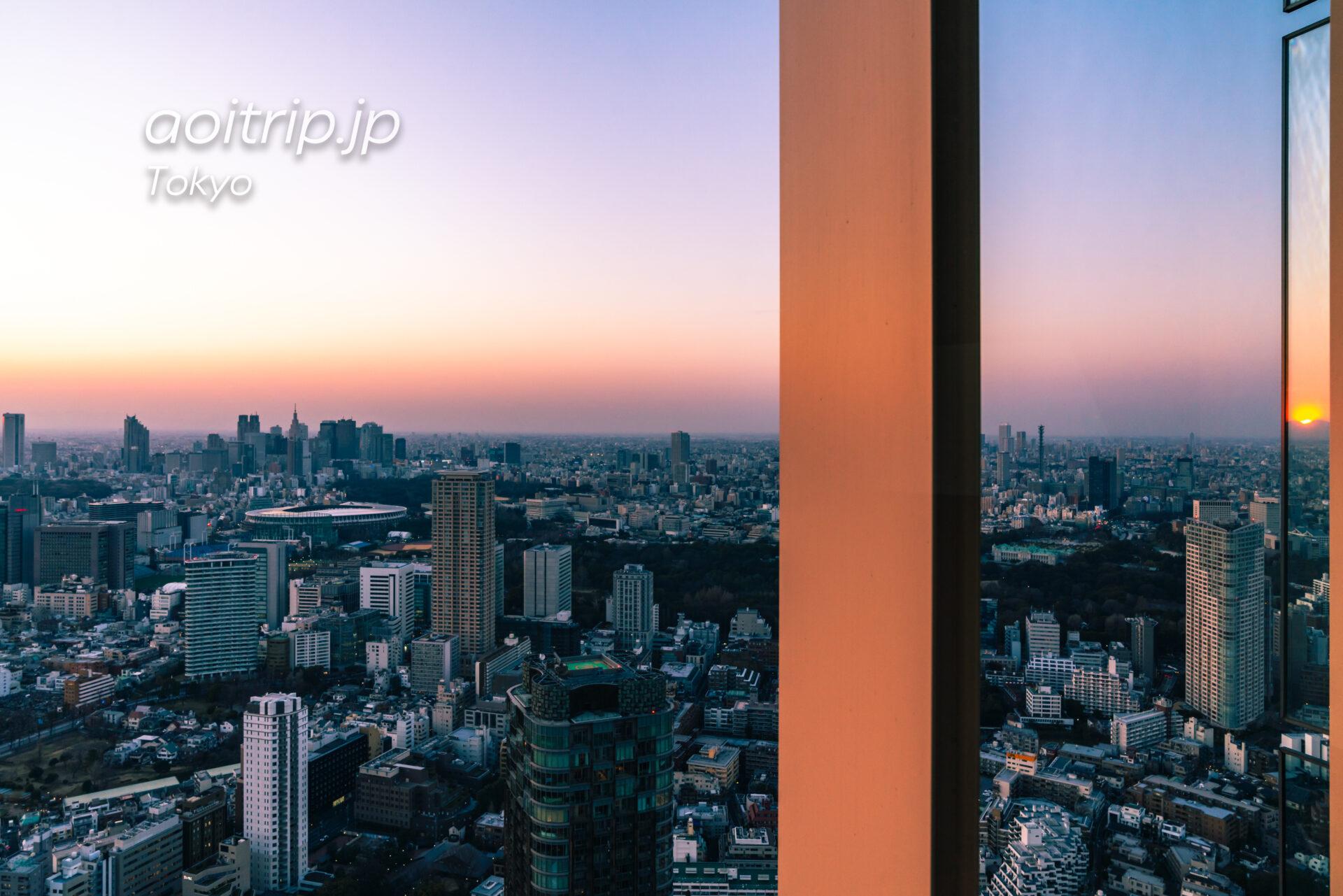 Tokyo Skyline ザ リッツカールトン東京から望む新宿と夕日