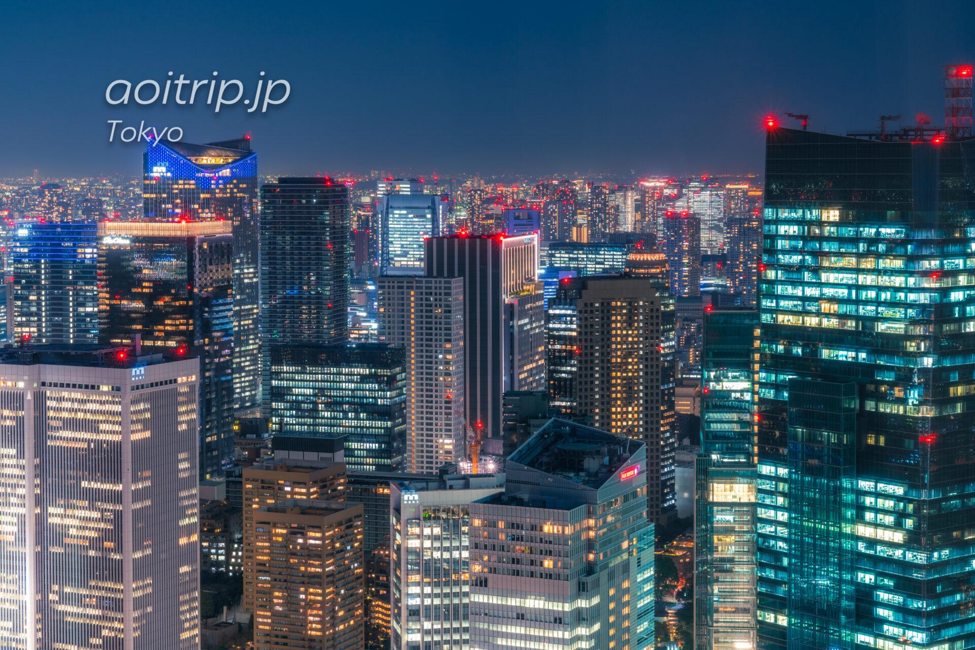 ザ リッツ カールトン東京から望む虎ノ門の夜景