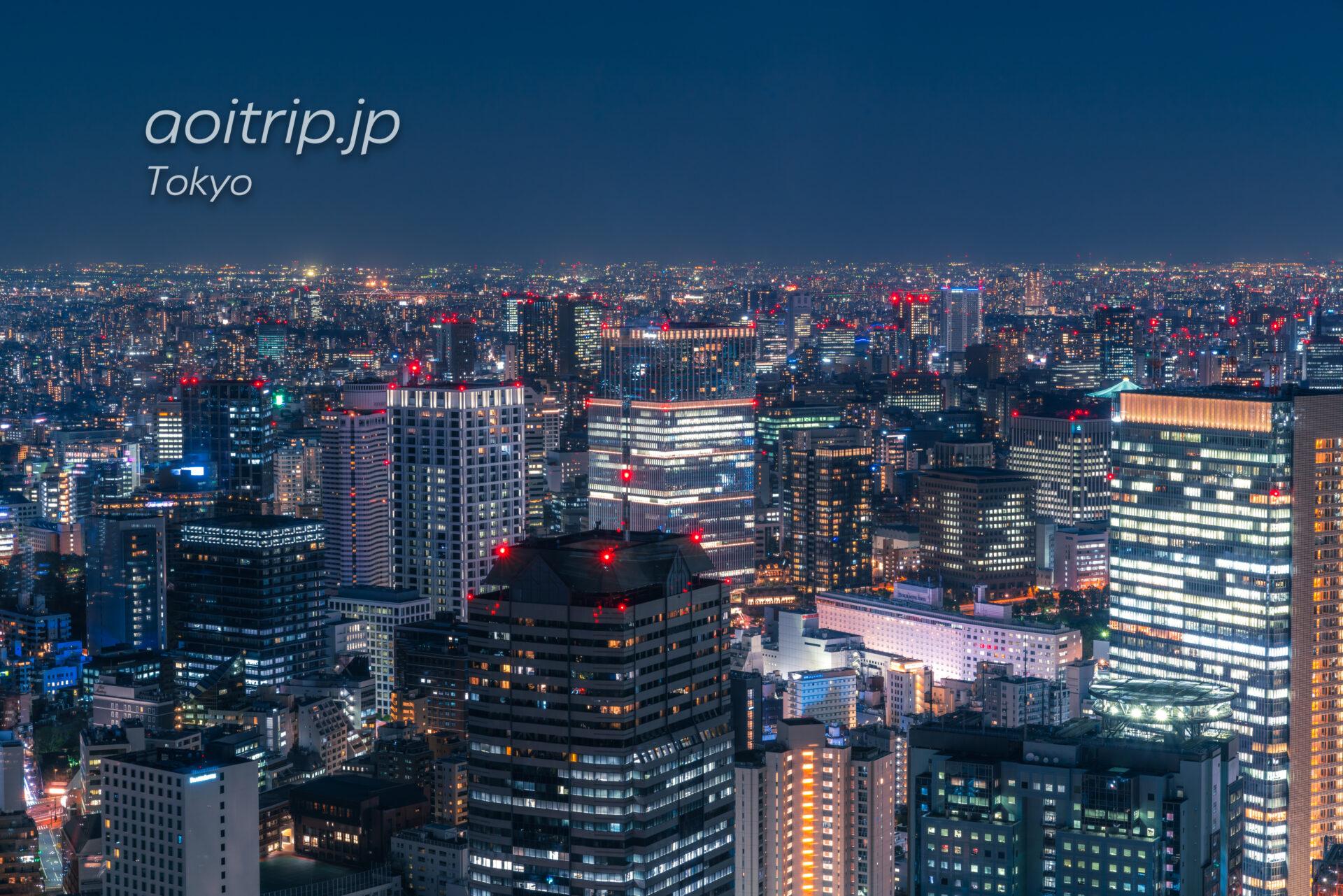 ザ リッツ カールトン東京から望む紀尾井町の夜景