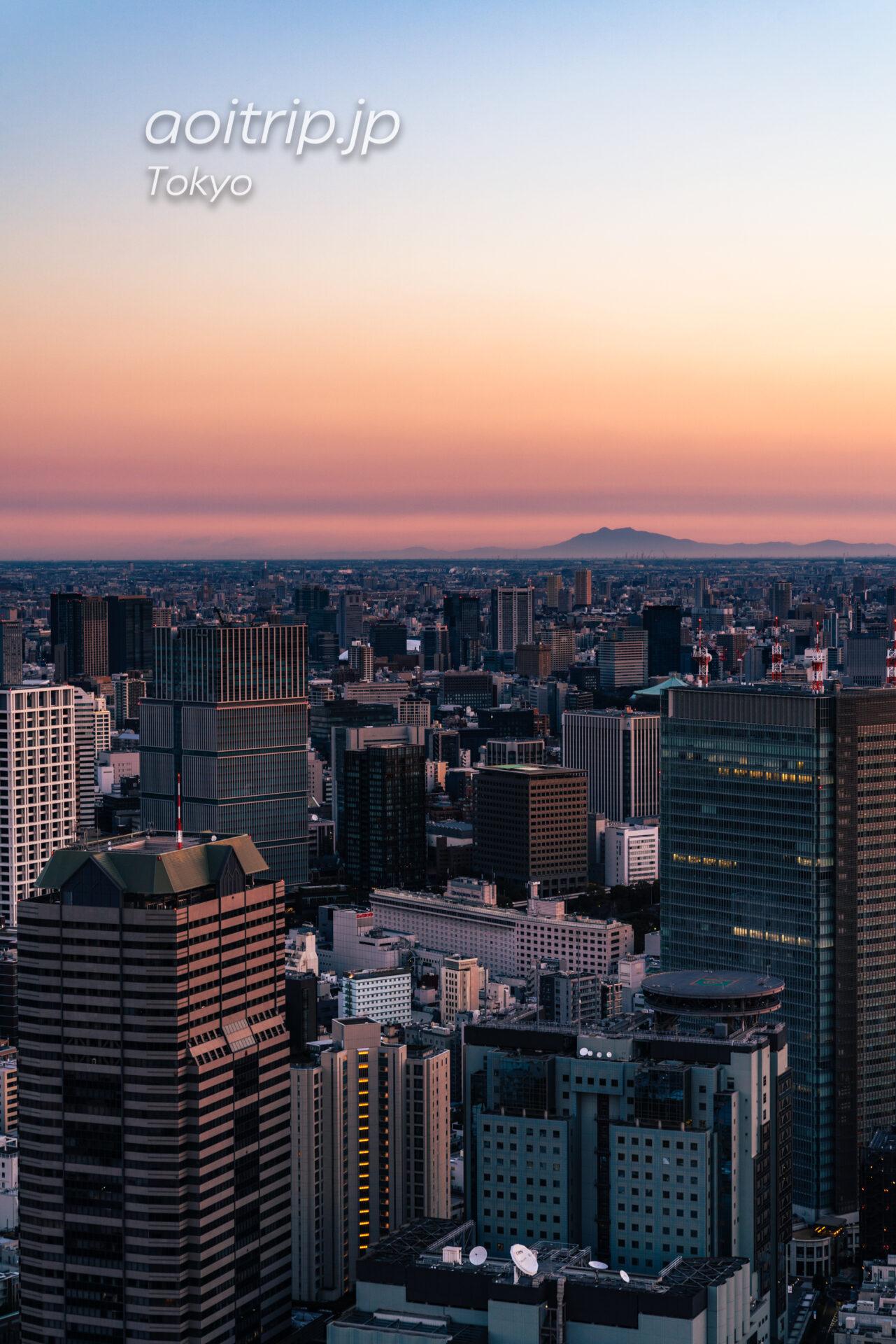 Tokyo Skyline ザ リッツカールトン東京から望む早朝の筑波山