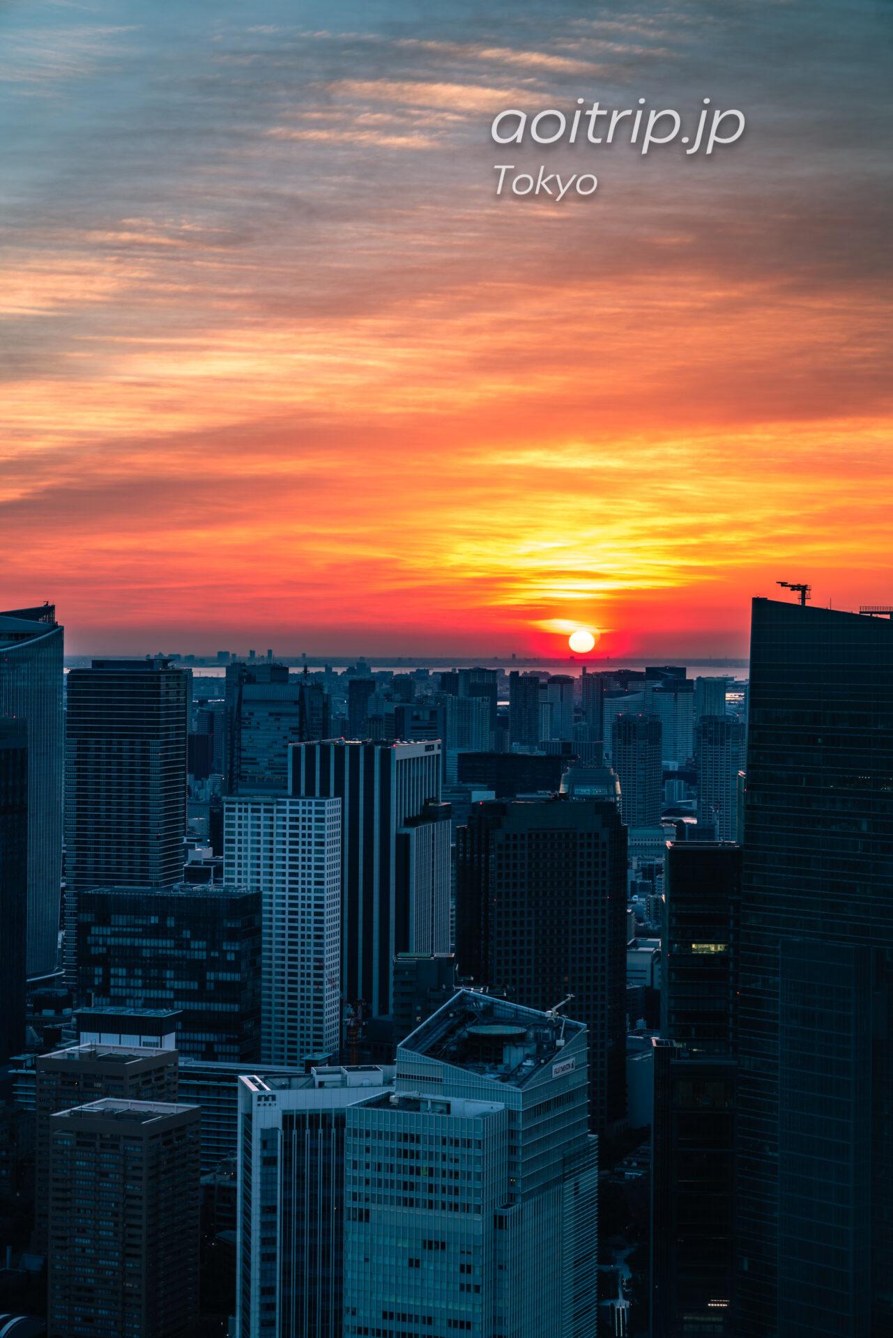 Tokyo Skyline ザ リッツカールトン東京から望む朝日