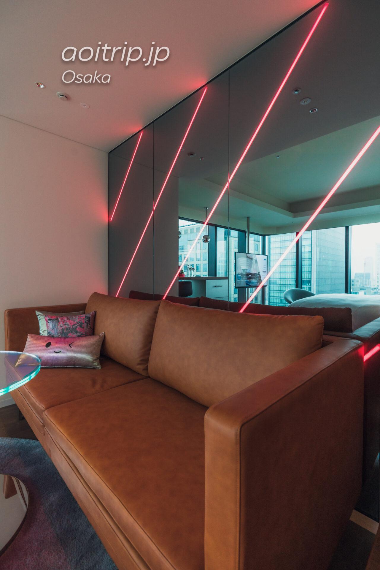 w大阪 スペクタキュラー, 1 キング, シティビュー, コーナールーム Spectacular Guest room, 1 King, City view, Corner room