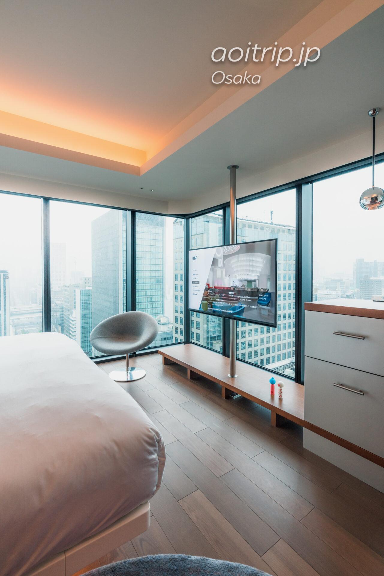 W大阪の客室 スペクタキュラー, 1 キング, シティビュー, コーナールーム Spectacular Guest room, 1 King, City view, Corner room