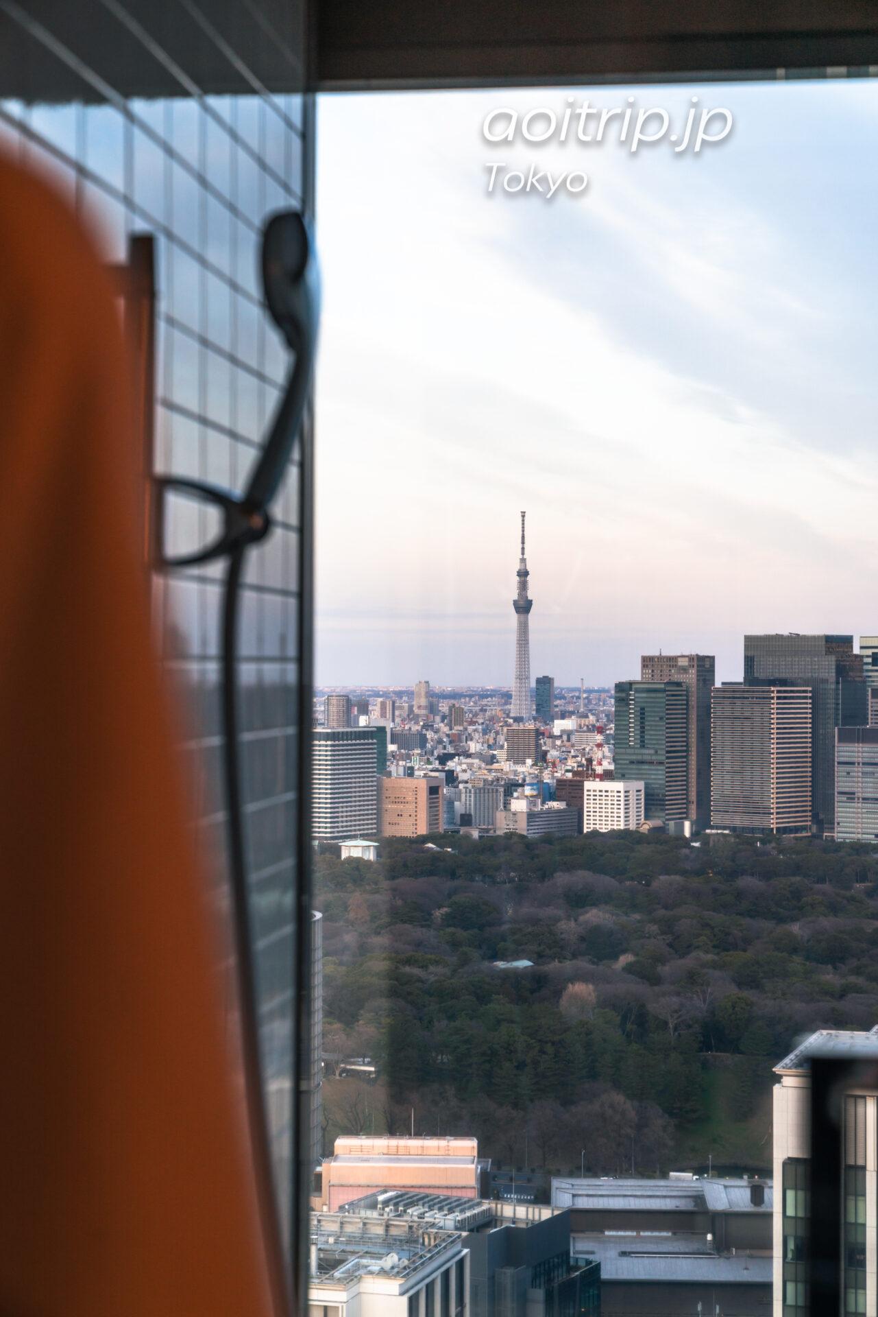 ザ プリンスギャラリー 東京紀尾井町のビューバスと東京スカイツリー
