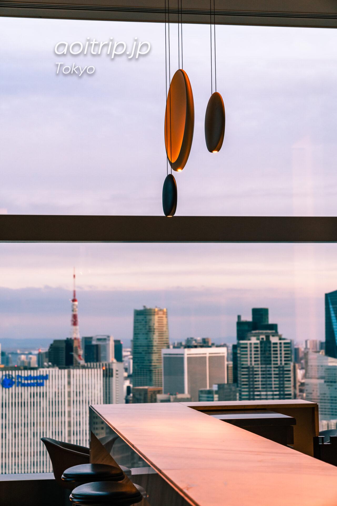 ザ プリンスギャラリー 東京紀尾井町のロビーから望む東京タワー
