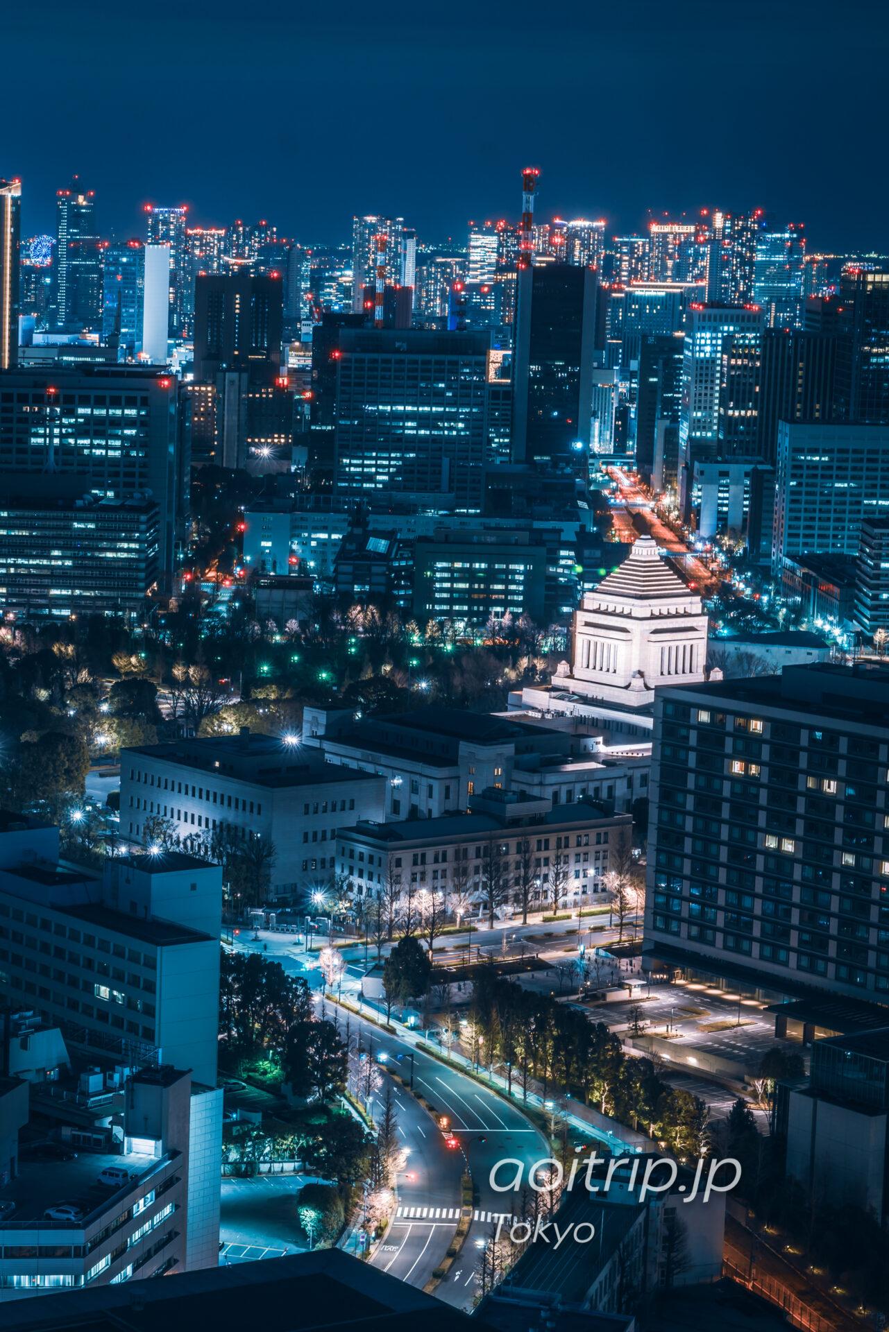 ザ プリンスギャラリー 東京紀尾井町から望む国会議事堂
