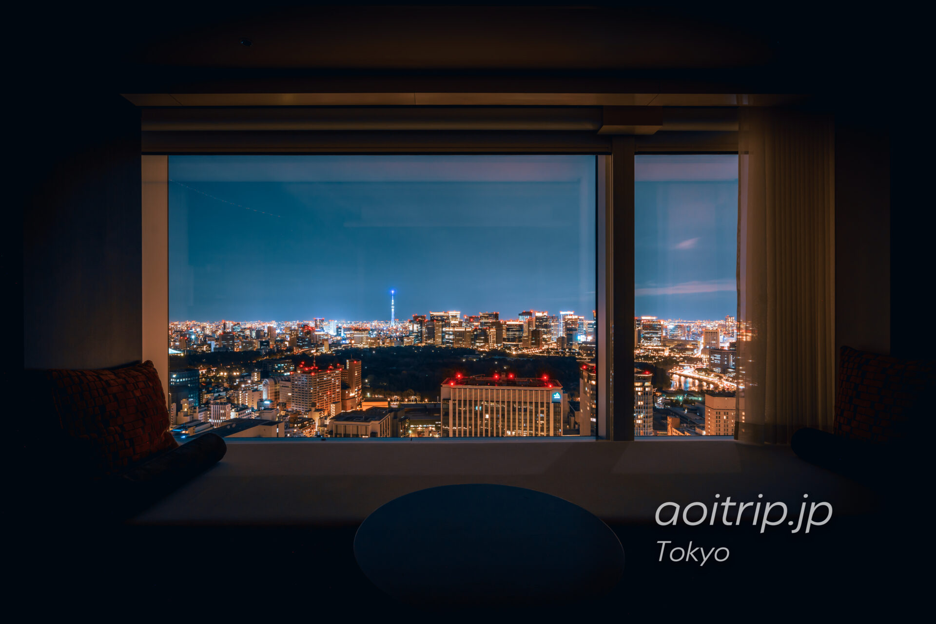 ザ プリンスギャラリー 東京紀尾井町から望む夜景
