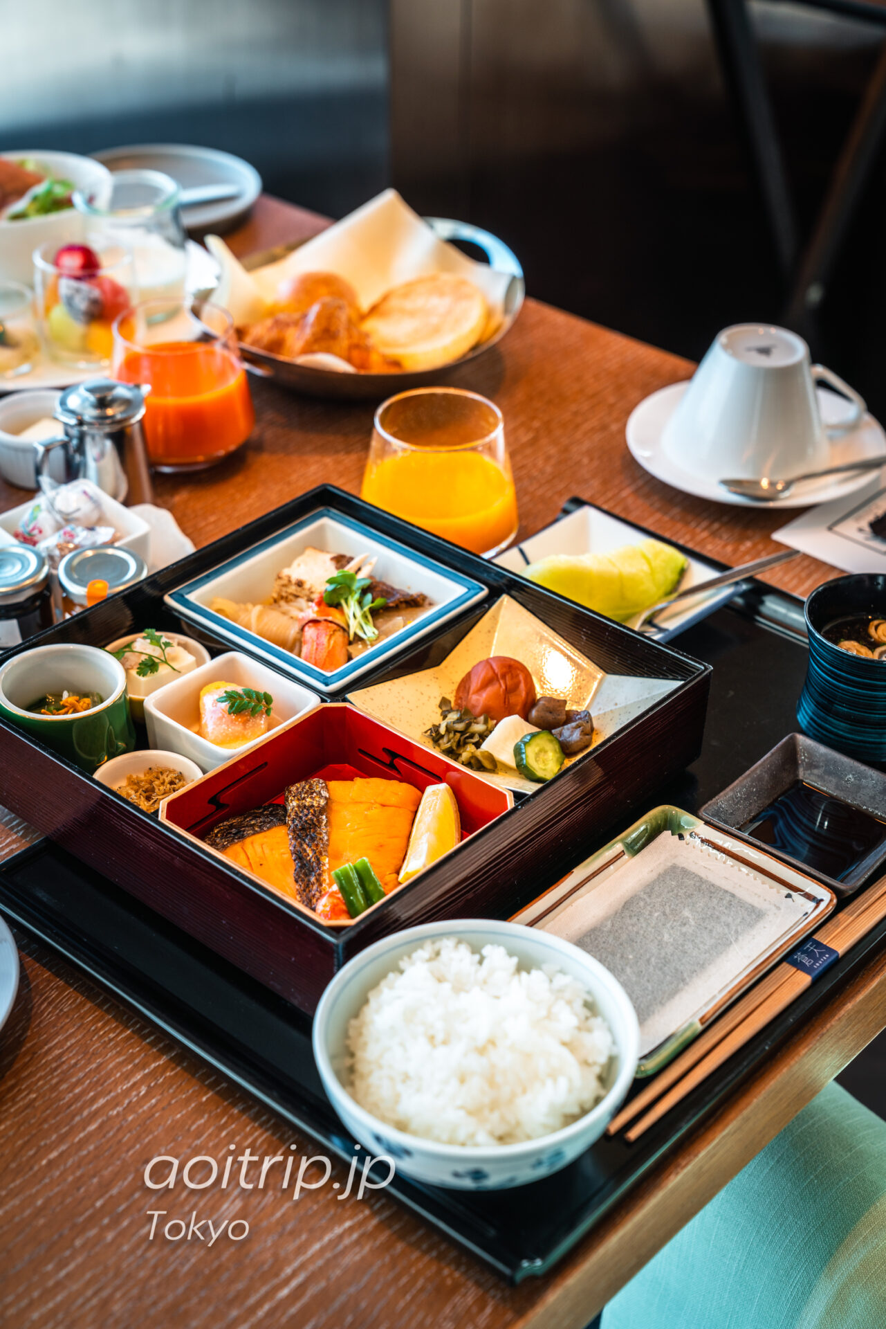 ザ プリンスギャラリー 東京紀尾井町 朝食の和定食