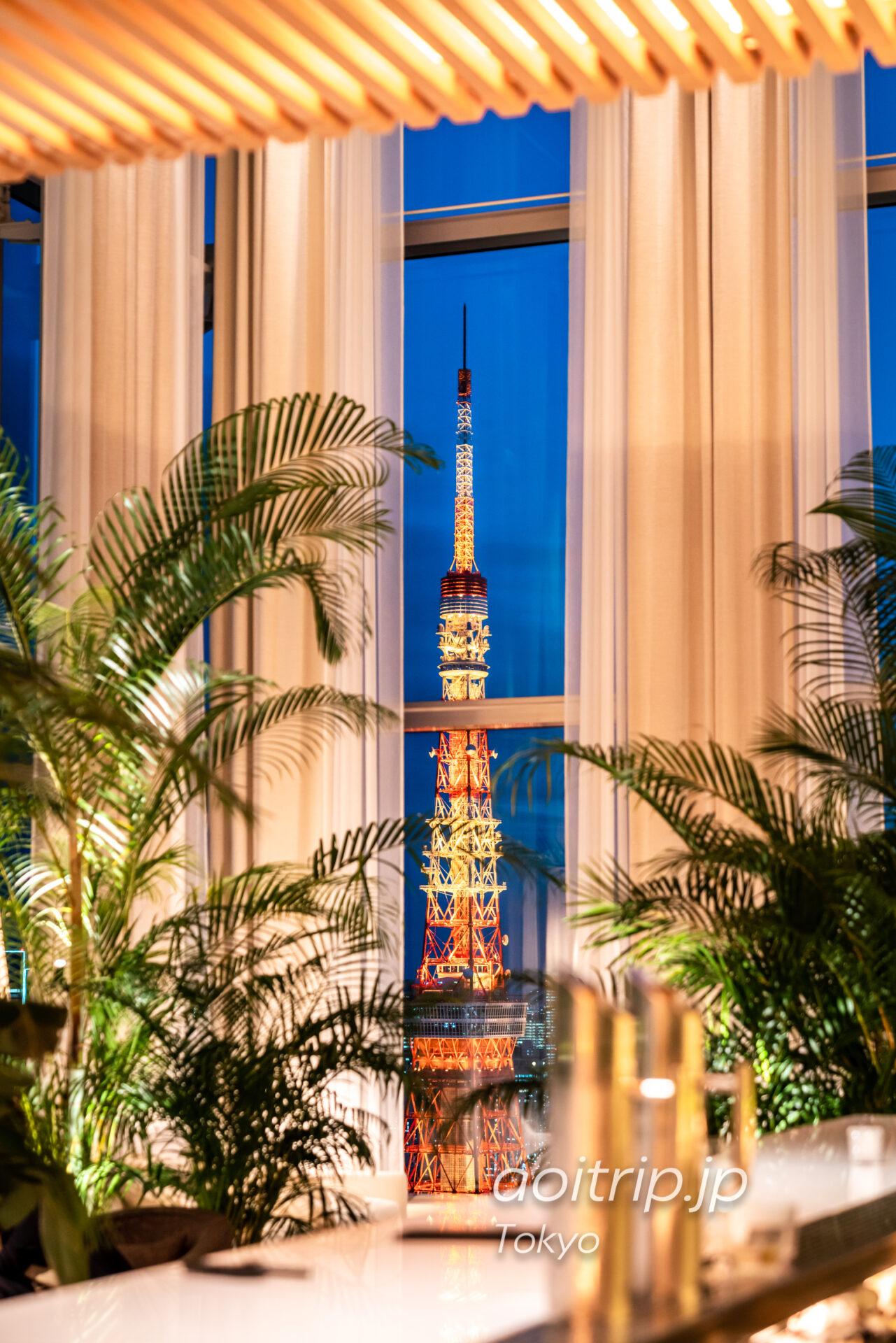 東京エディション虎ノ門から望む東京タワー