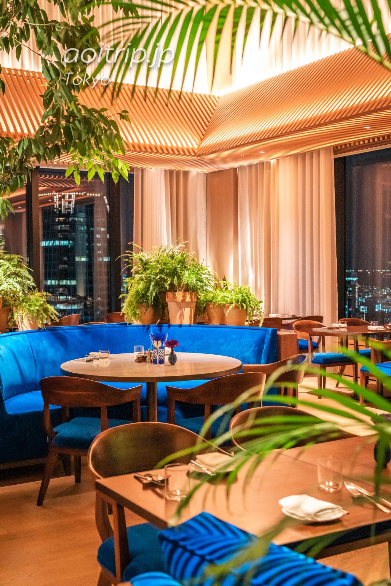 東京エディション虎ノ門のレストランザ ブルールーム The Blue Room