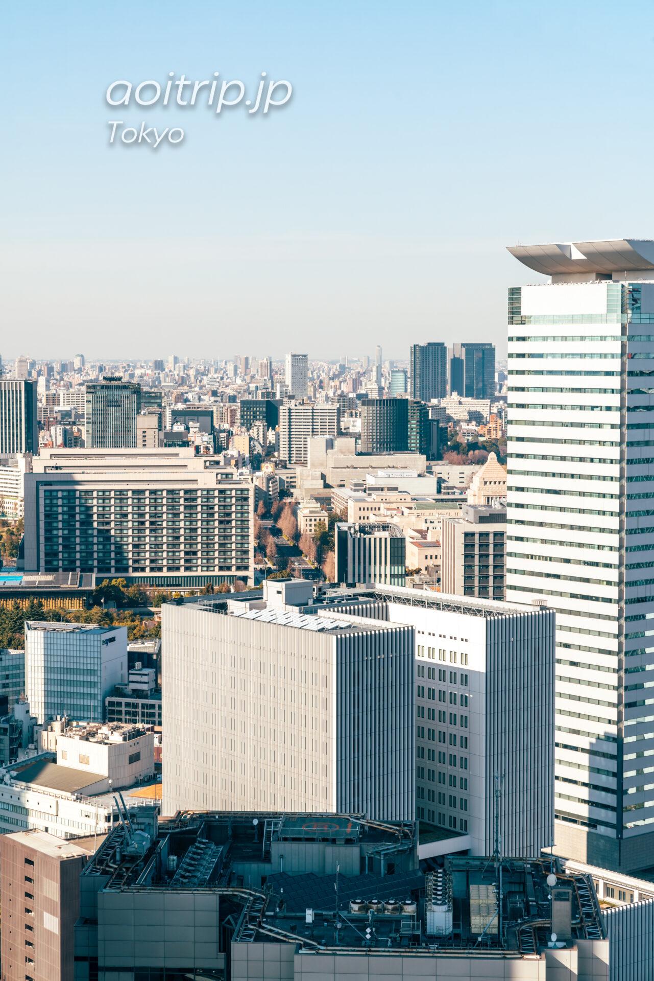 東京エディション虎ノ門の眺望 国会議事堂