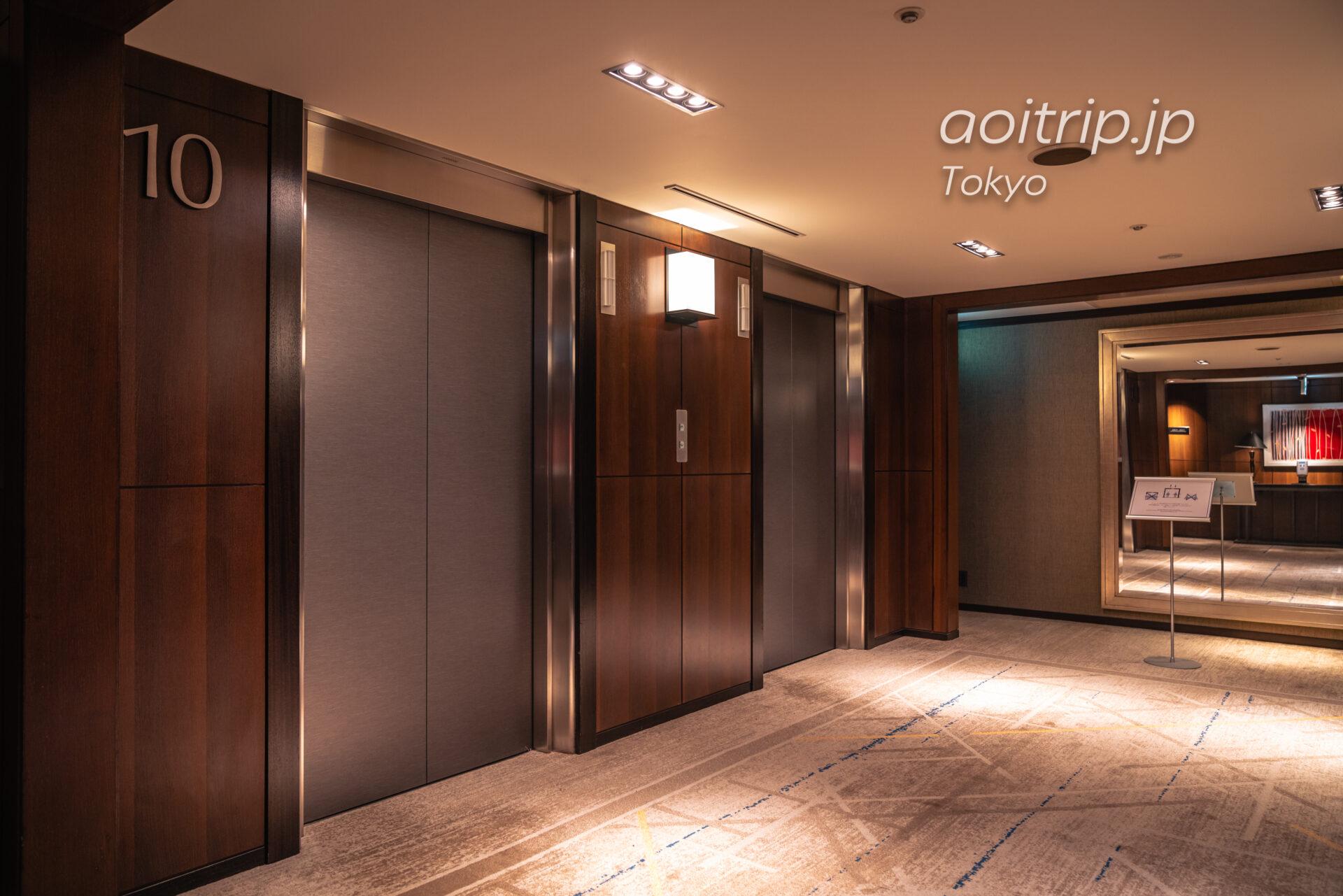 シェラトン都ホテル東京(Sheraton Miyako Hotel Tokyo)のエレベーターホール