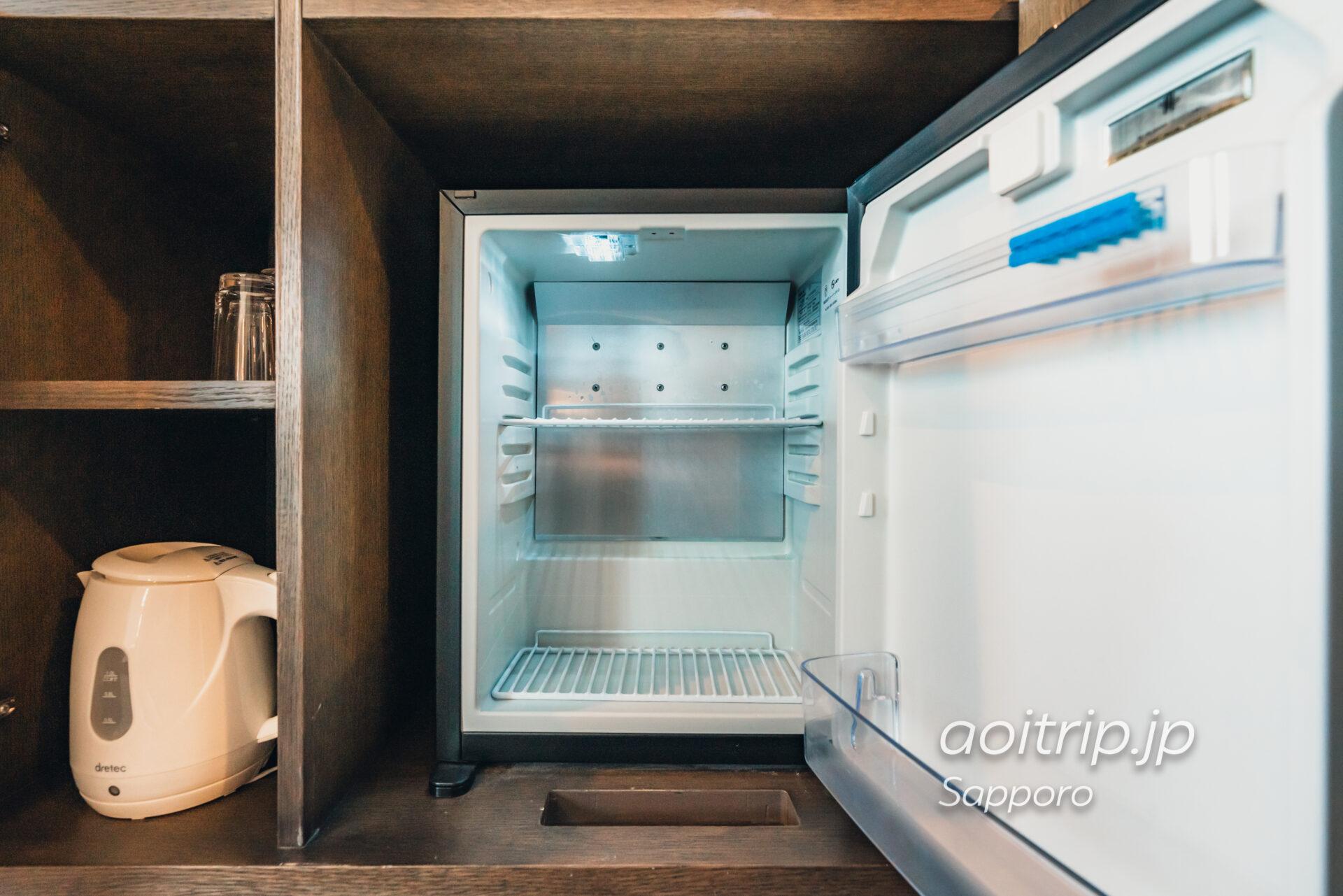 プレミアホテル中島公園 札幌 冷蔵庫と電気ケトル