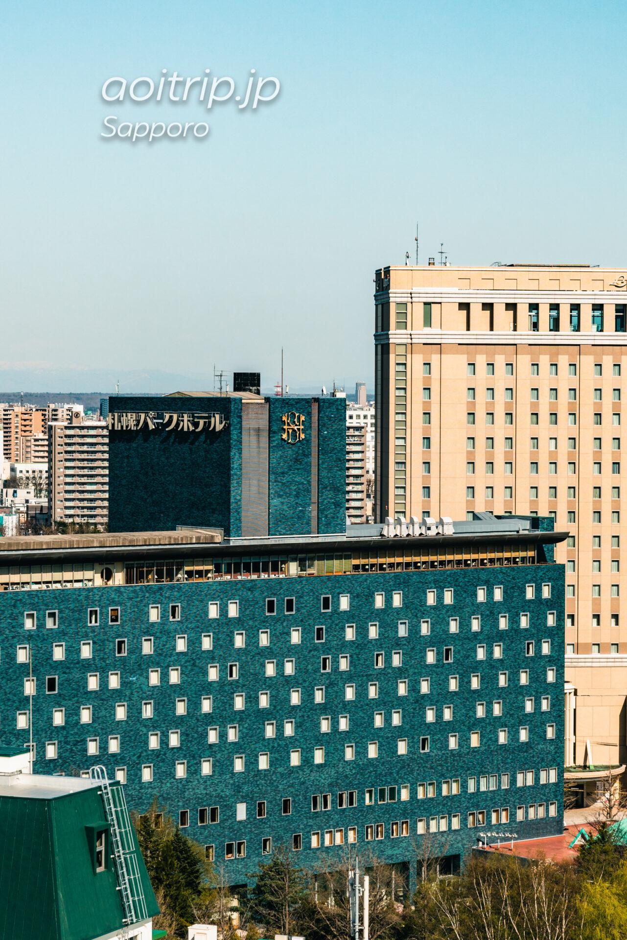 プレミアホテル中島公園札幌 客室からの眺望。新さっぽろのホテルエミシア札幌