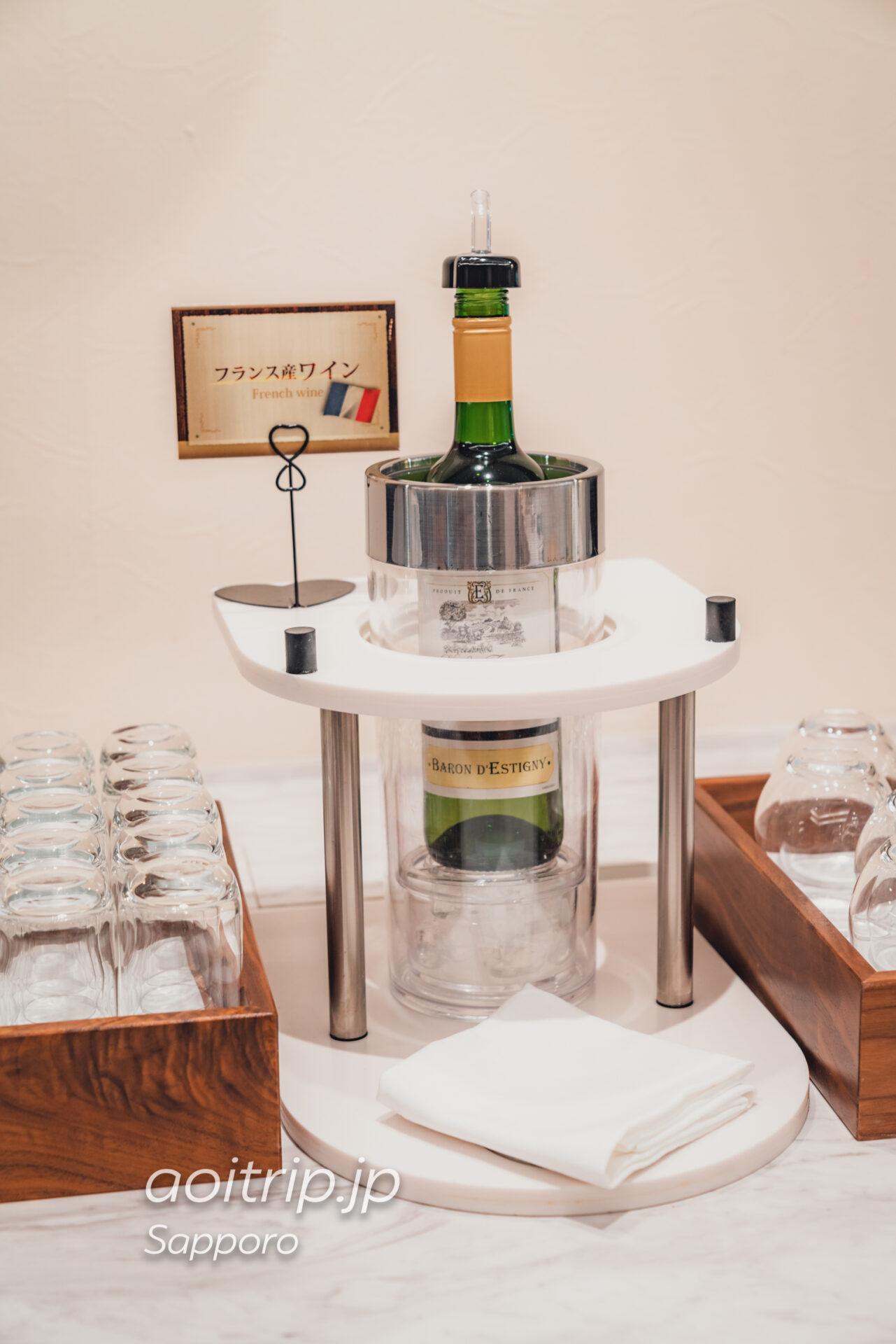 プレミアホテル中島公園 札幌 ビストロ ラ・プロヴァンスの朝食 フランス産白ワイン