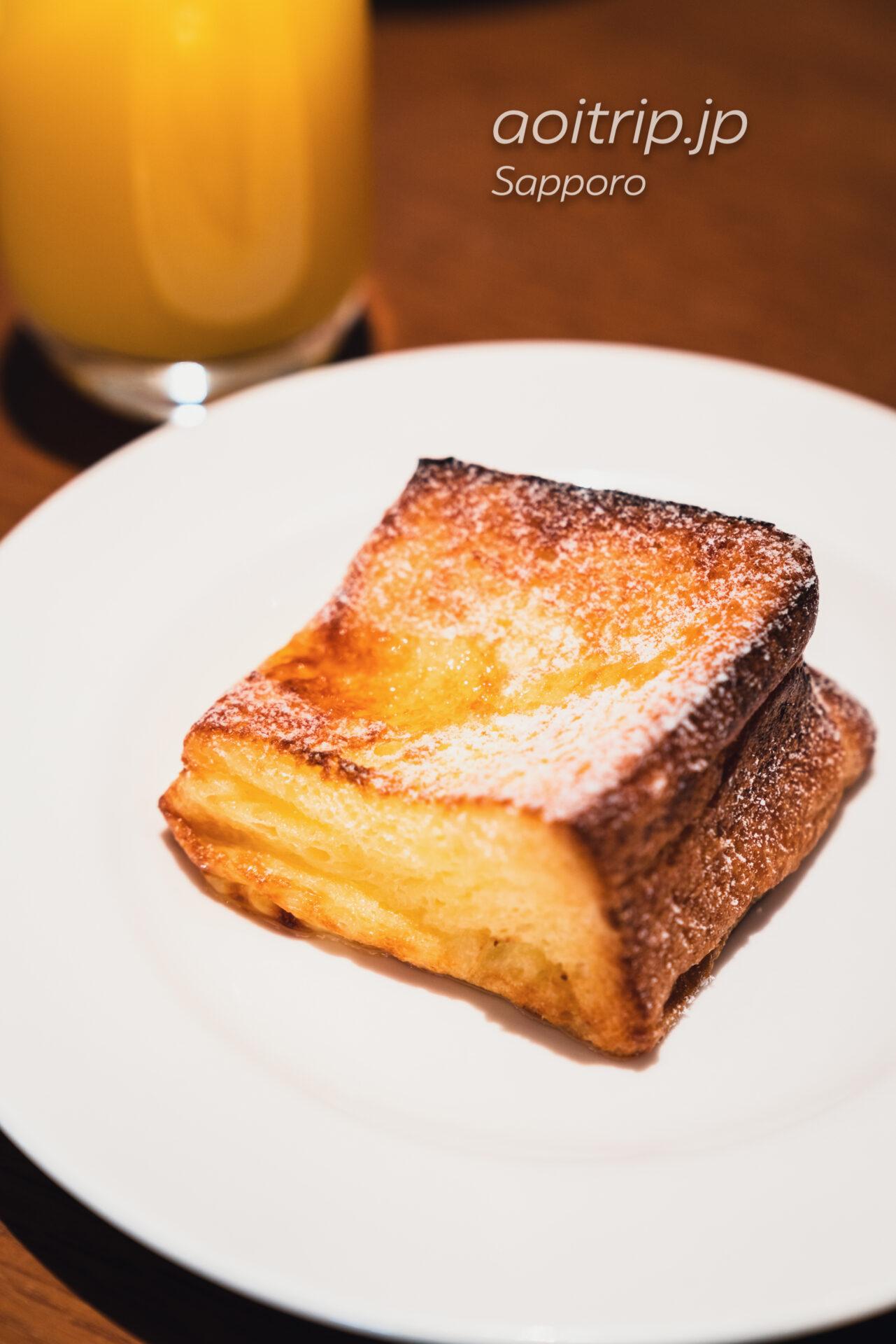 プレミアホテル中島公園 札幌 5Fのビストロ ラ・プロヴァンスの朝食 フレンチトースト
