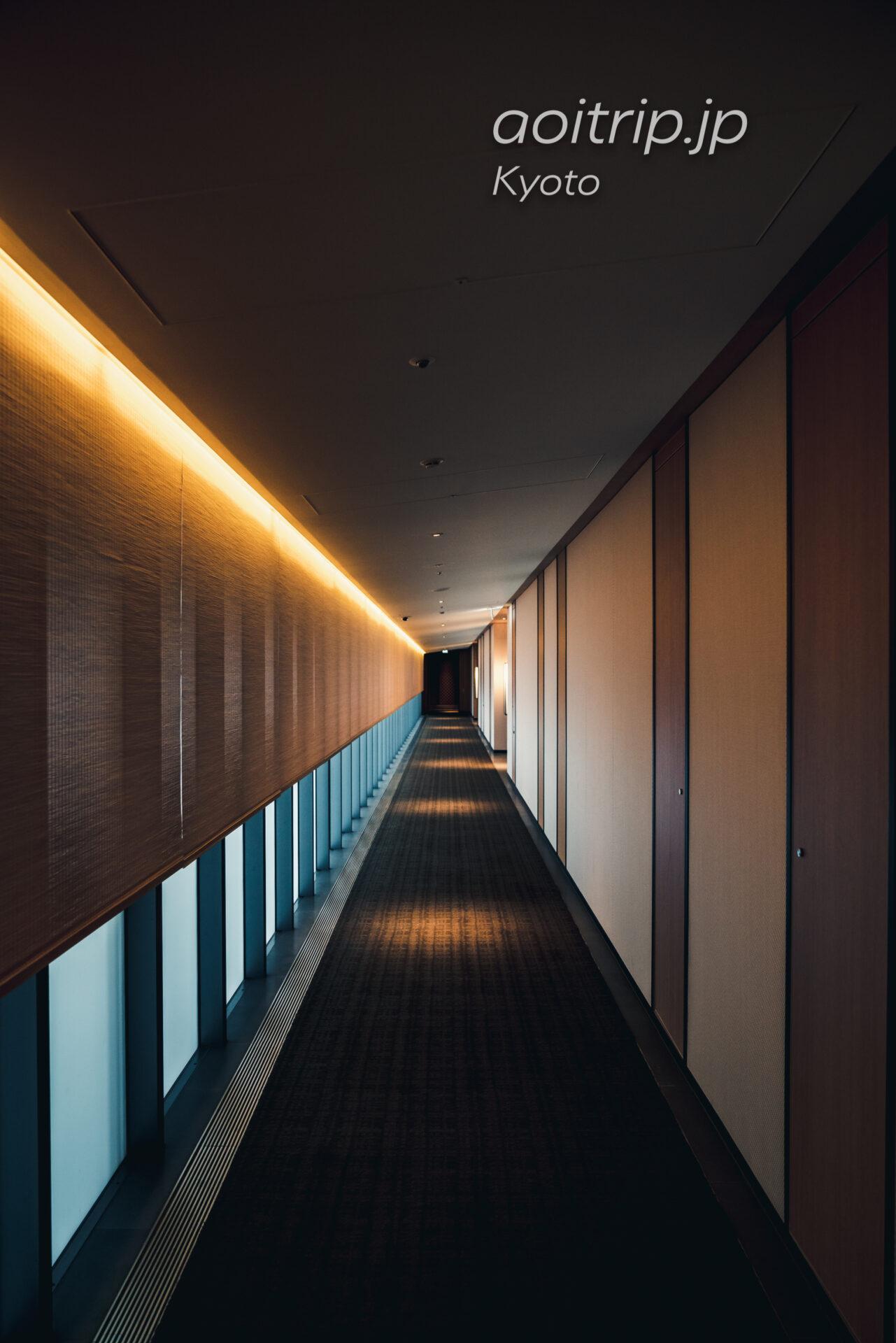 ザ リッツ カールトン京都のホテル内廊下