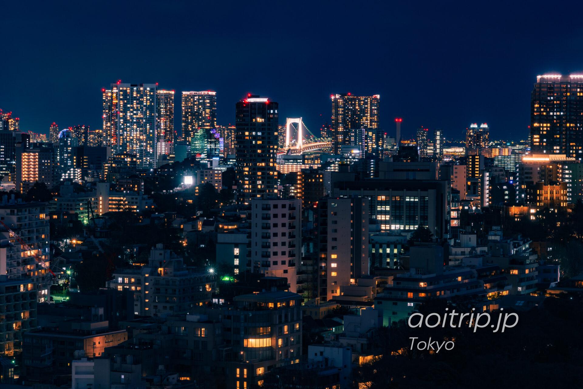 ザ ウェスティン ホテル 東京のスイートルーム客室から望む夜景 レインボーブリッジ