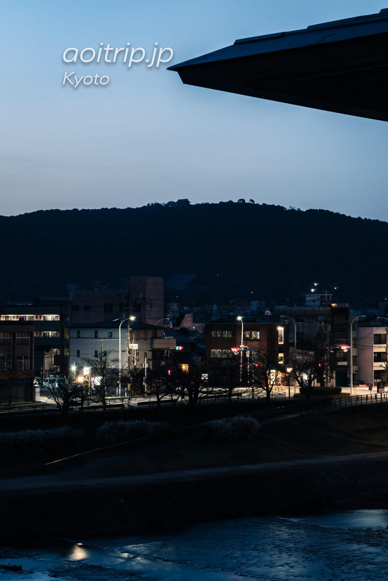 ザ リッツカールトン京都から望む円山 夜明け前