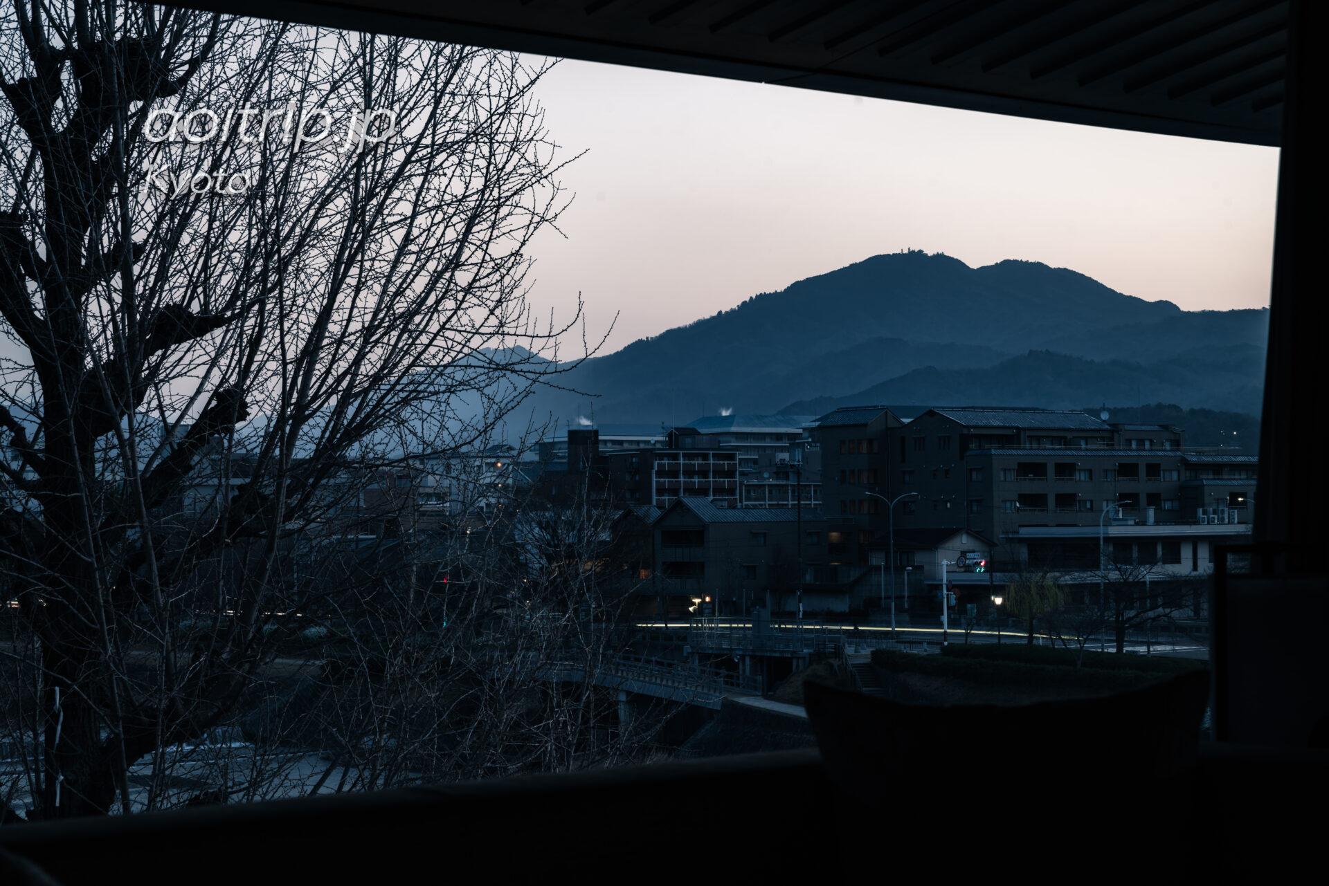 リッツ京都から望む比叡山