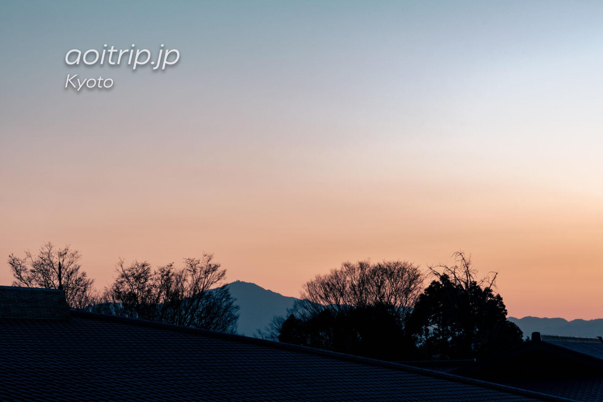 京都嵐山 翠嵐から望む比叡山