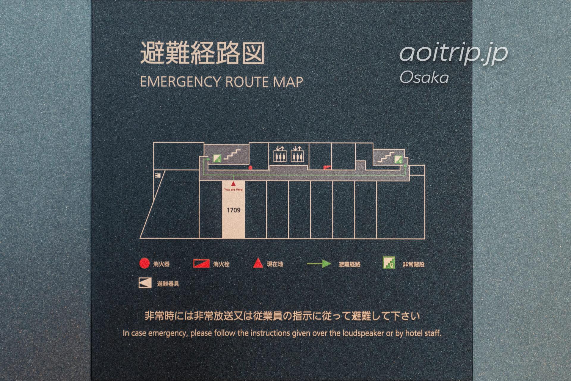 コートヤード バイ マリオット大阪本町のフロアマップ