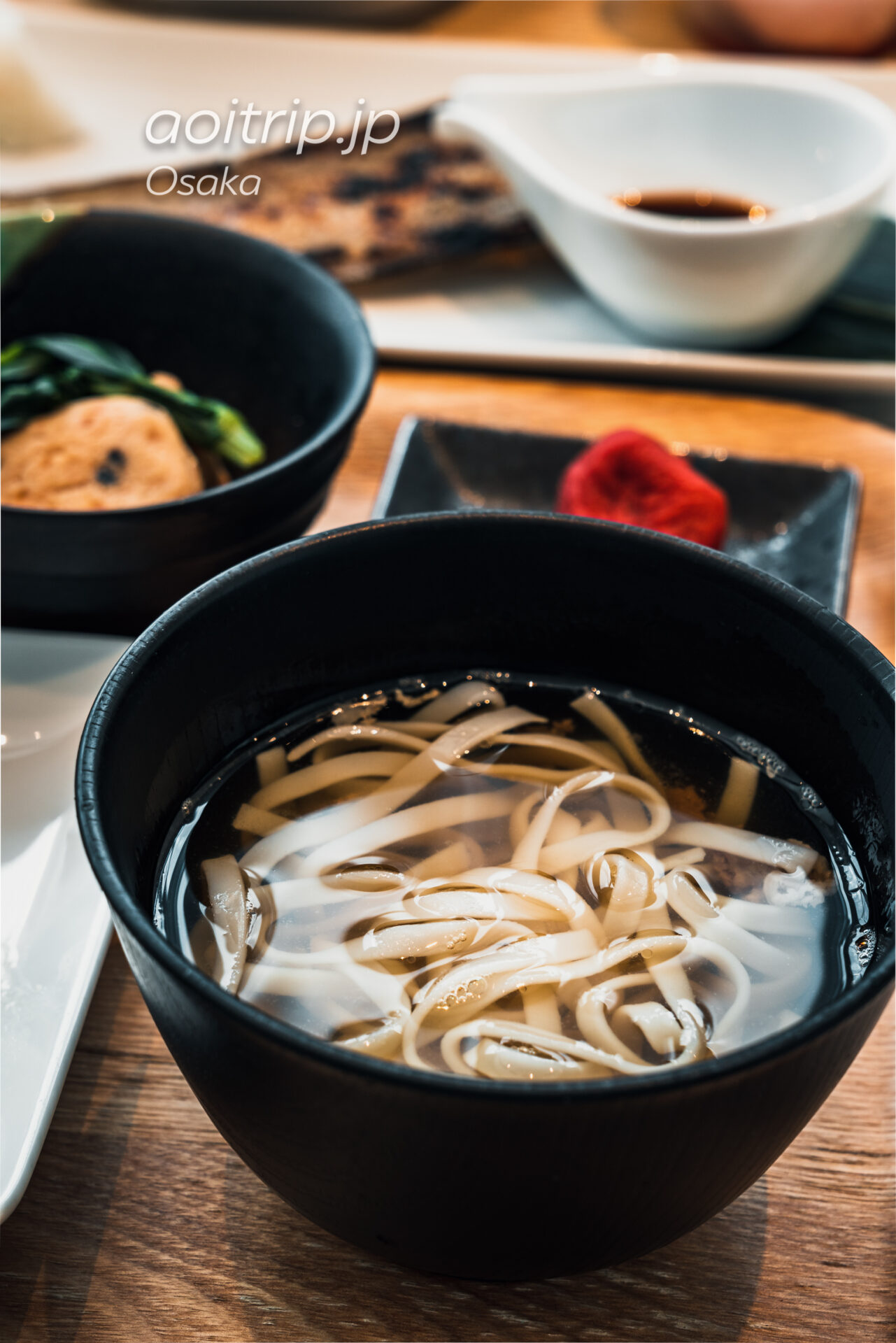 コートヤード バイ マリオット大阪本町の朝食 肉吸いうどん