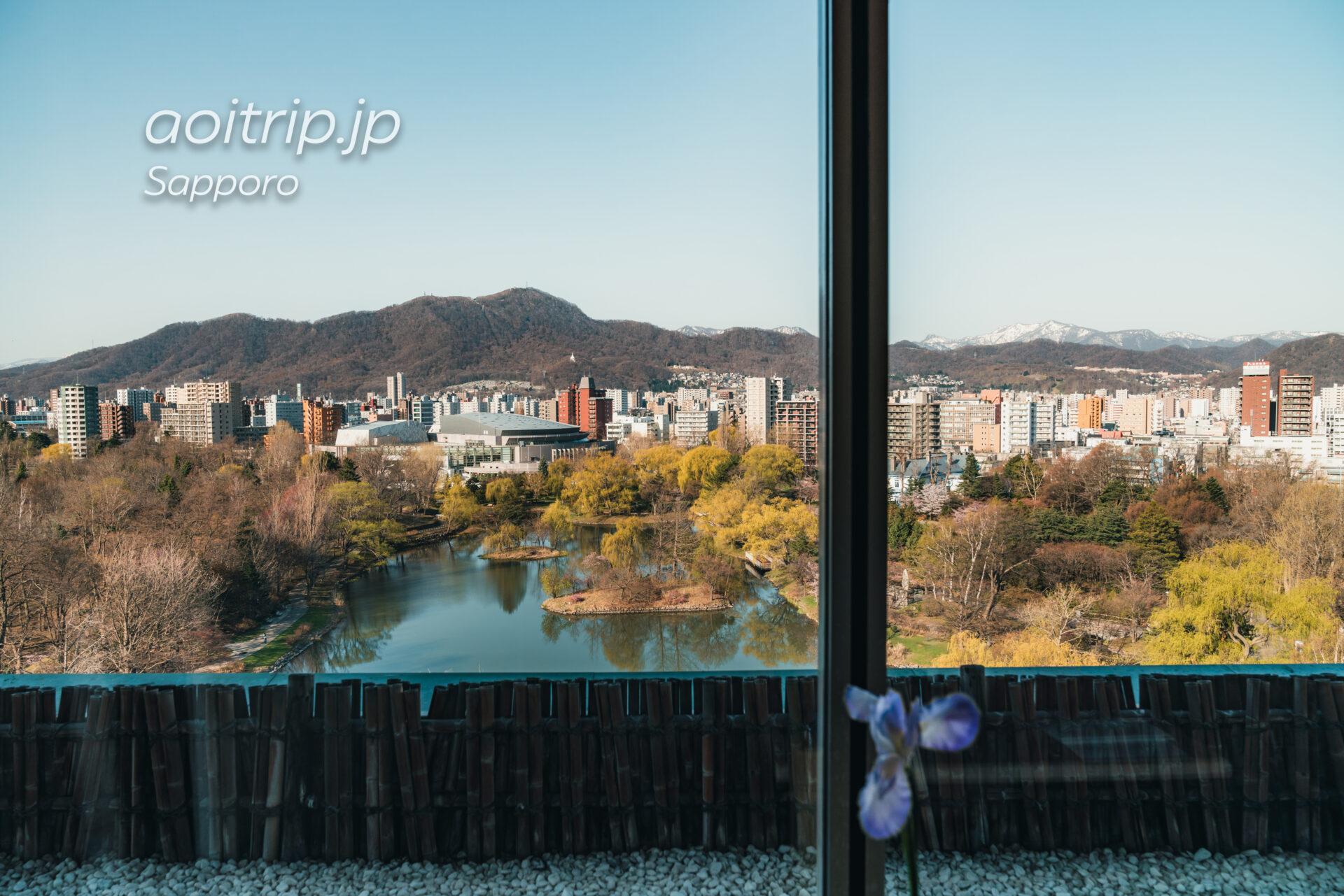 札幌パークホテル 11Fにある「なだ万雅殿」の眺望