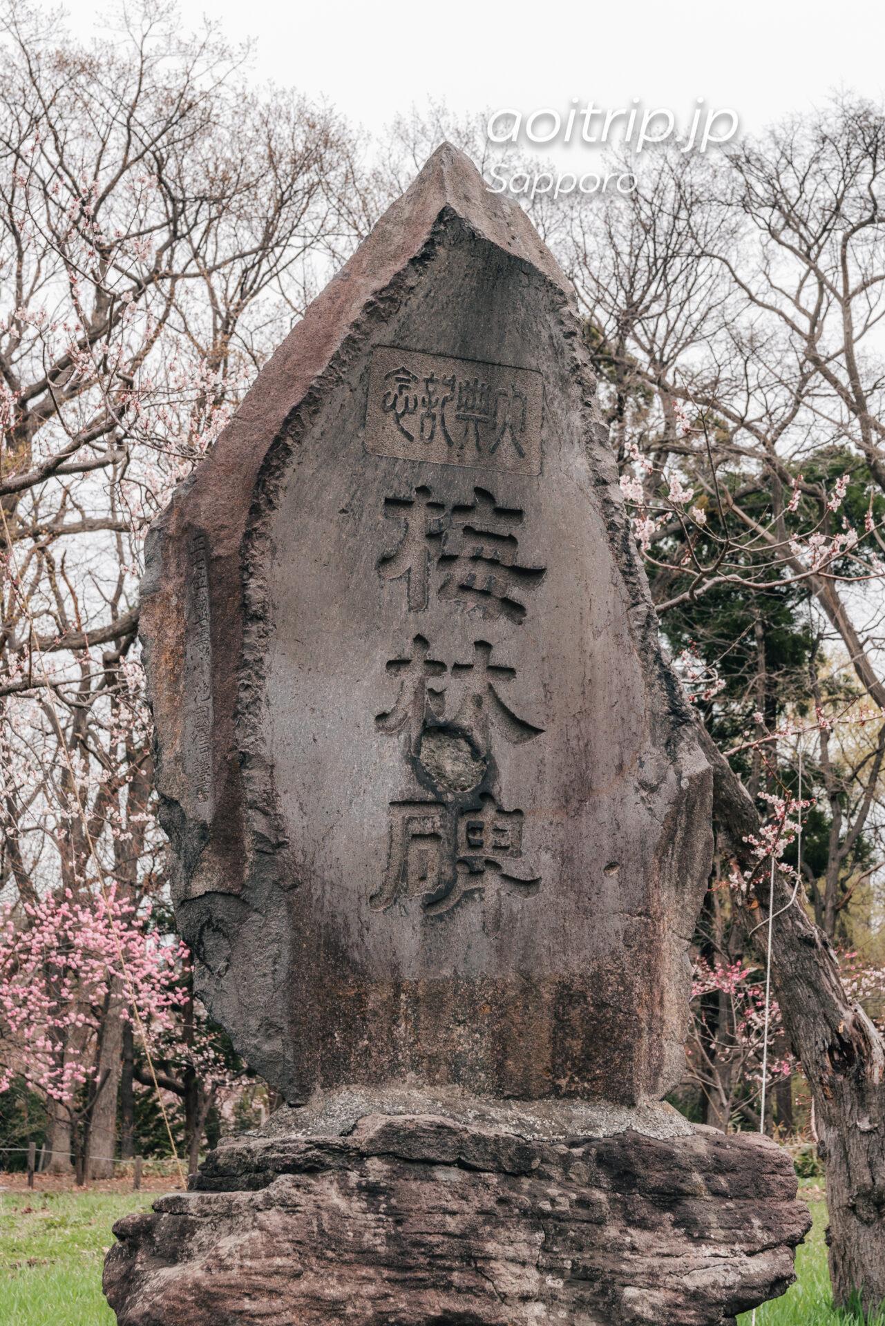 北海道神宮の梅林碑