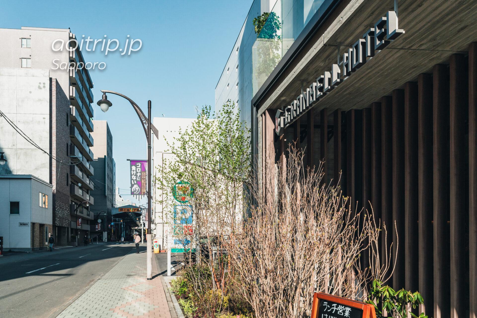 札幌グランベルホテルと狸小路7丁目