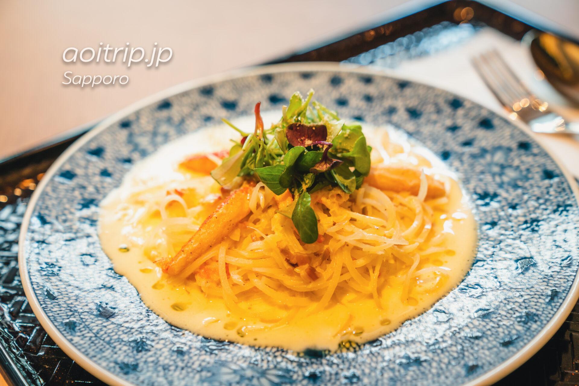 札幌グランベルホテル 実乃里(みのり)&カフェ 蟹とじゃが芋パスタ クリーム蟹味噌ソース