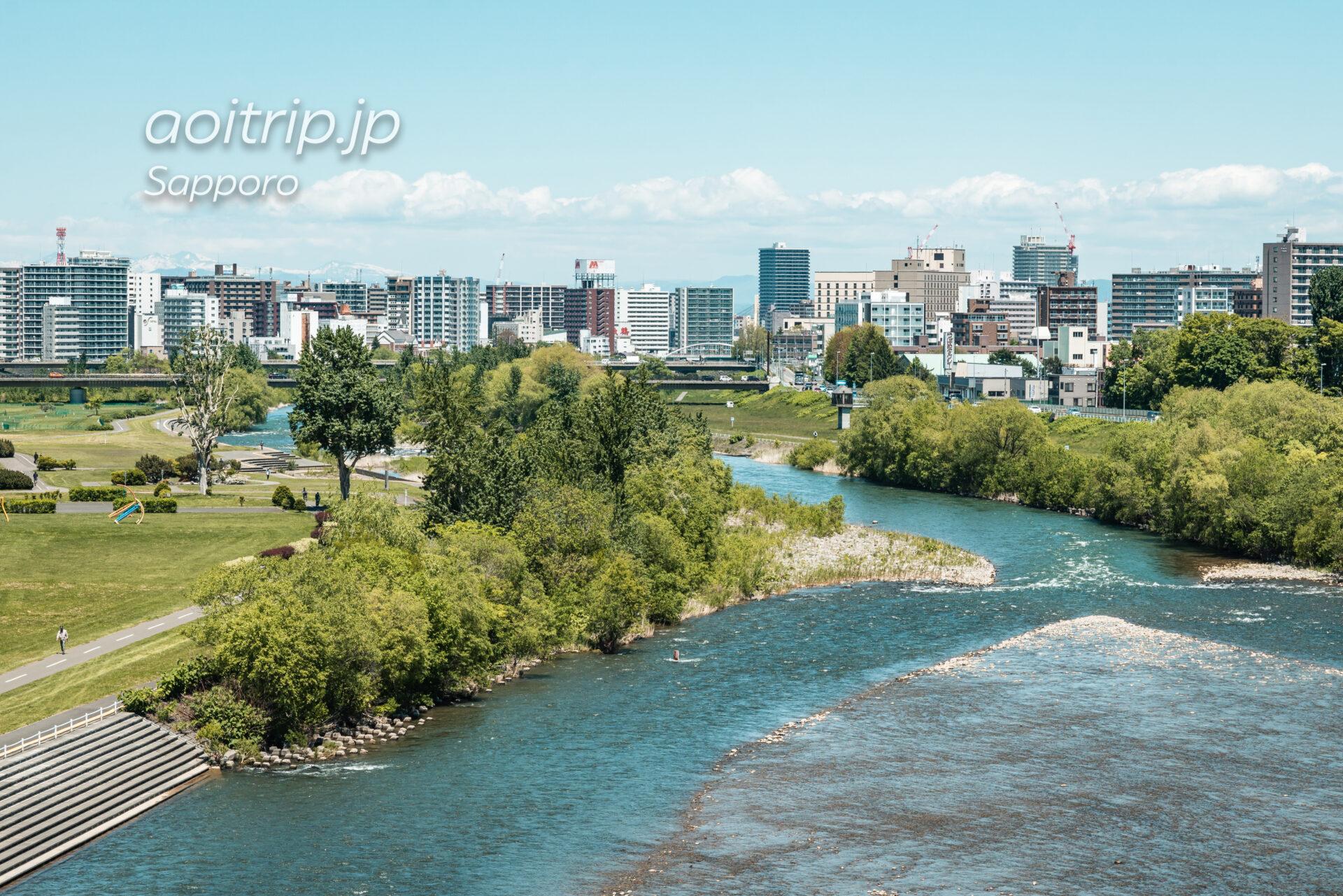 札幌の幌平橋から北側を望む