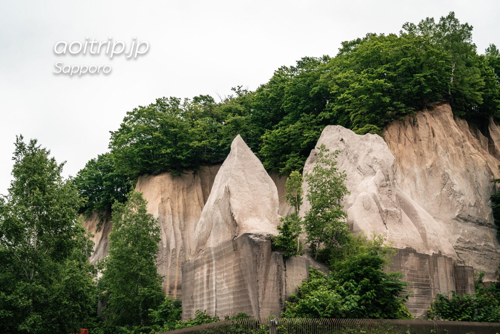 札幌 石山緑地にある溶結凝灰岩の露頭