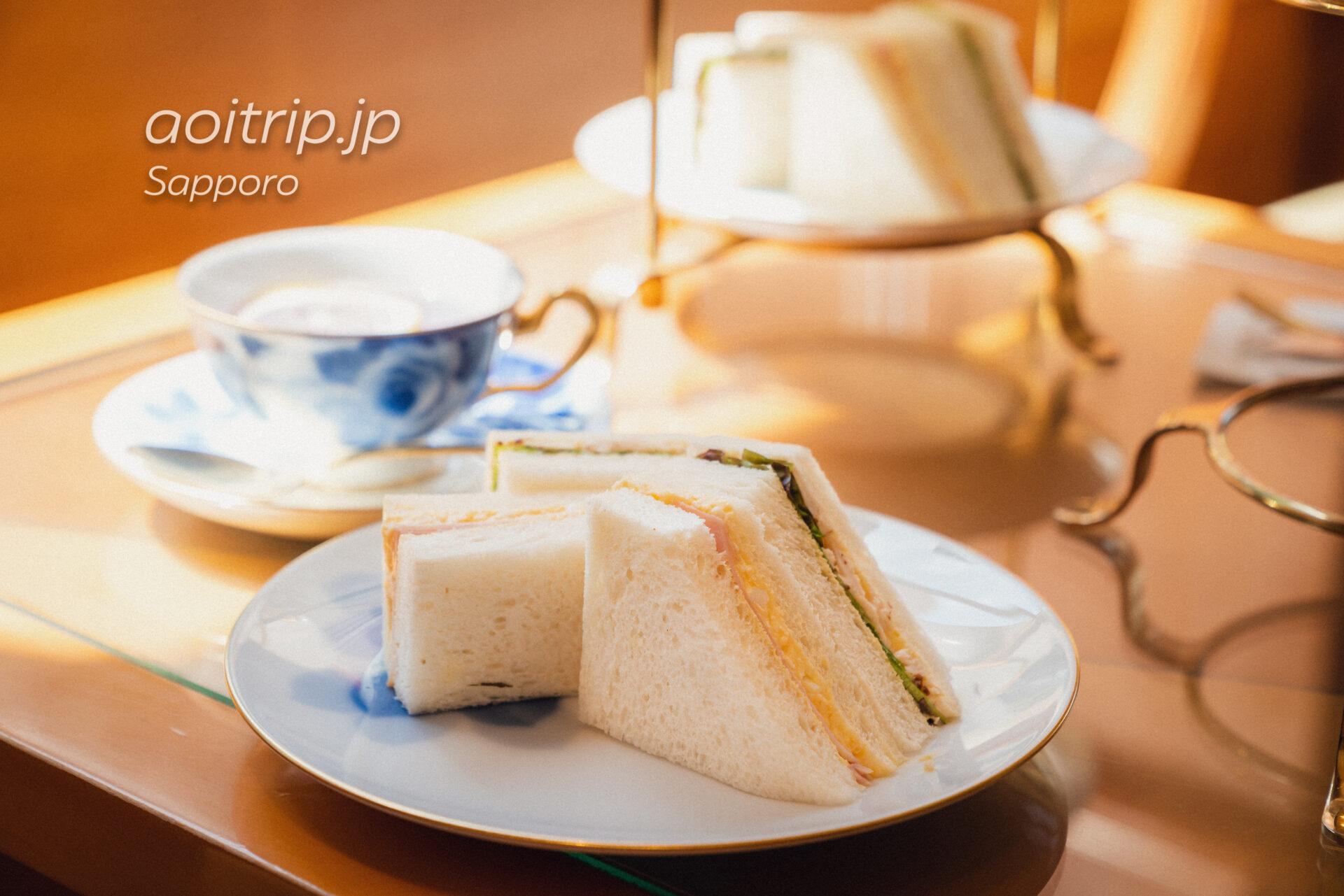 札幌グランドホテルのアフタヌーンティー サンドイッチ