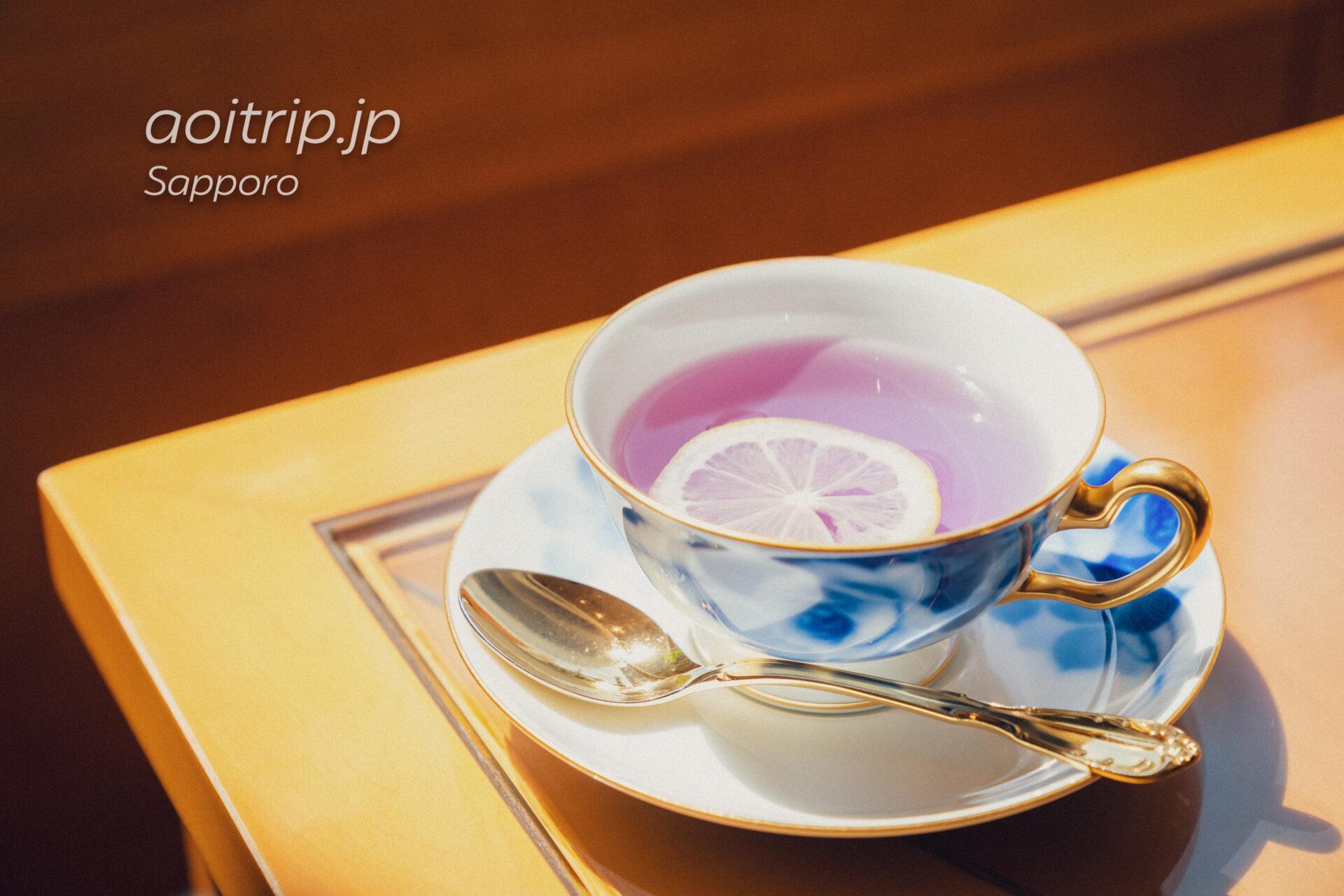 札幌グランドホテルのアフタヌーンティー、ハーブティーのバタフライティー