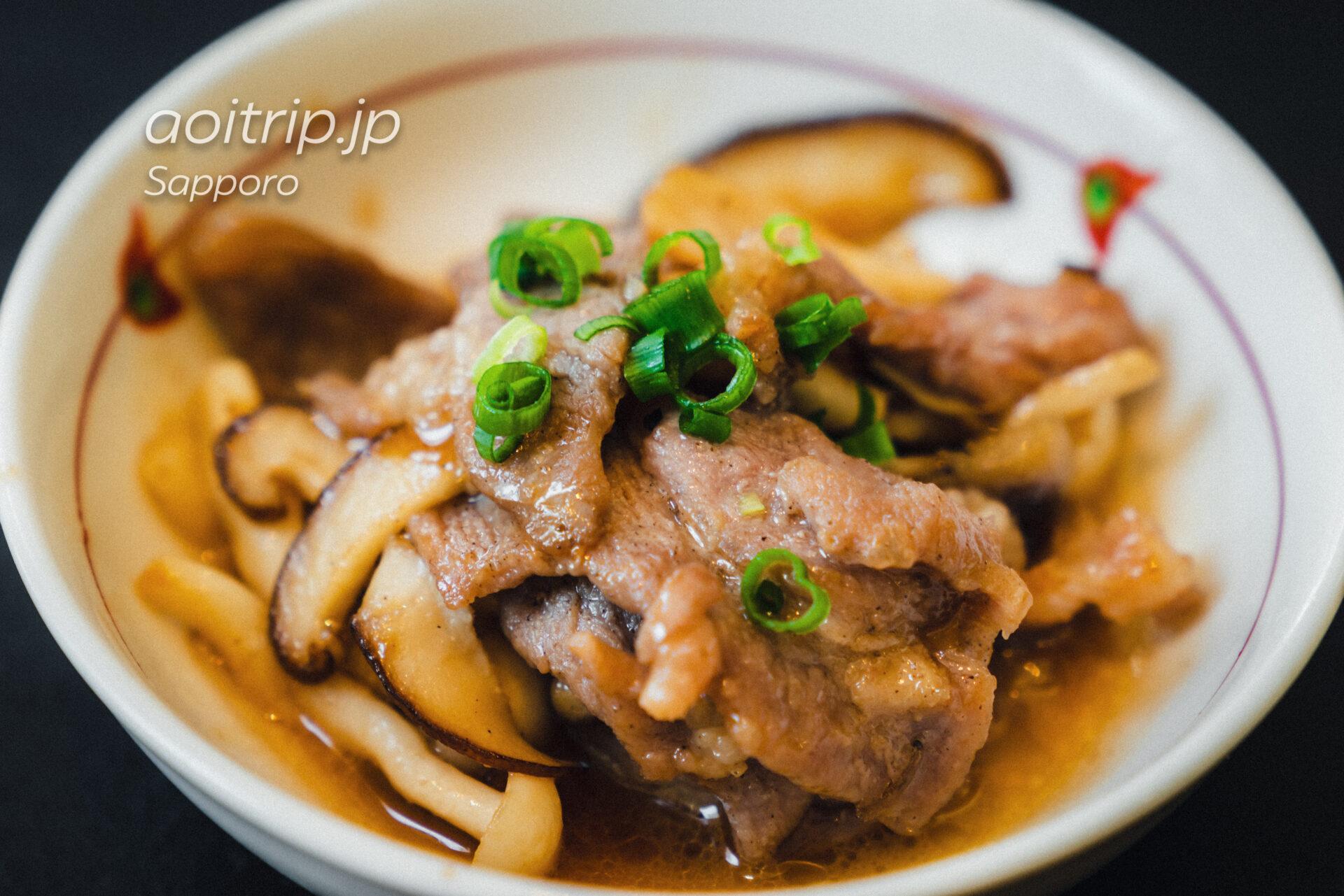 ANAホリデイイン札幌すすきのの朝食 名寄名物煮込みジンギスカン