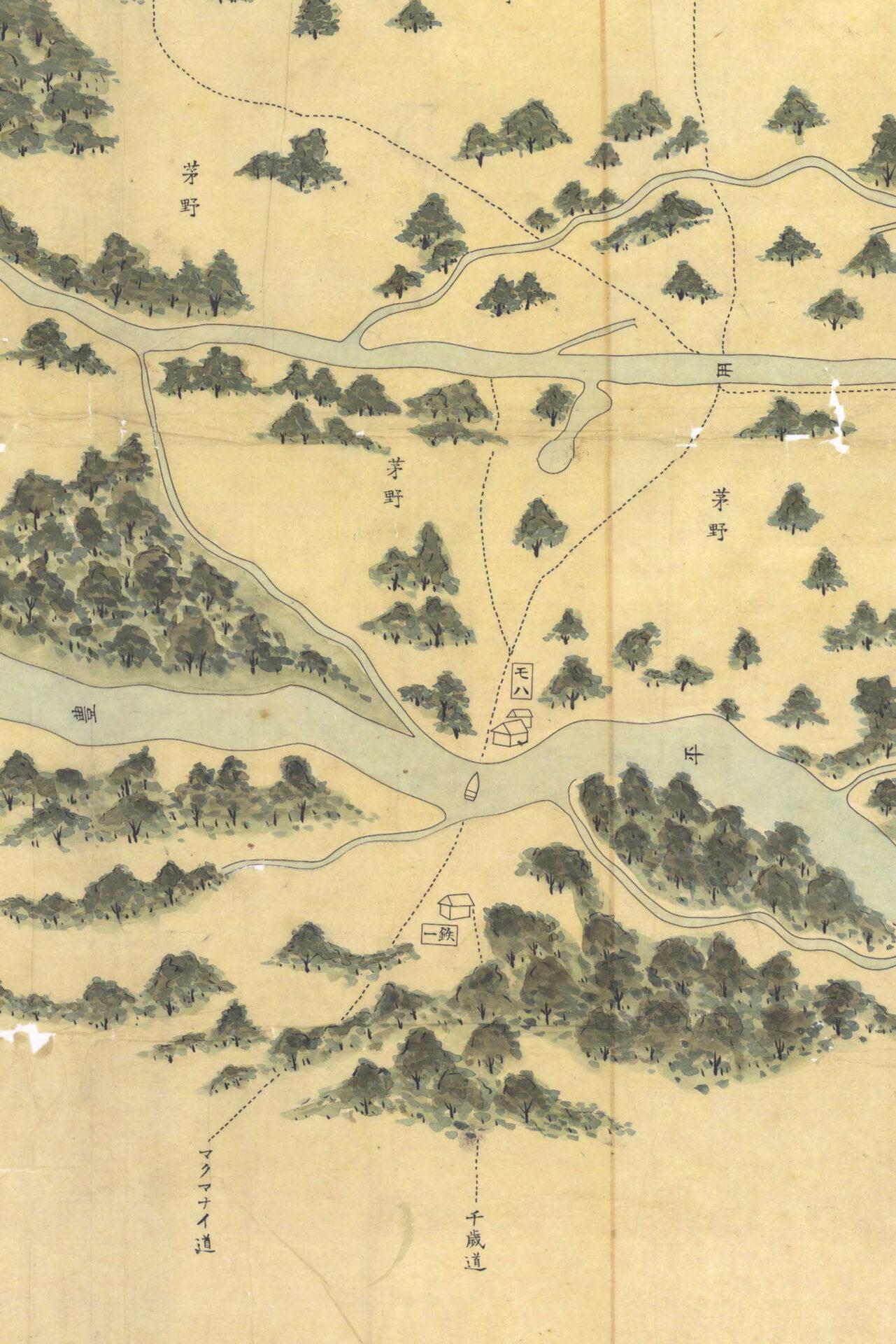 明治元年(1868年)の札幌の地図
