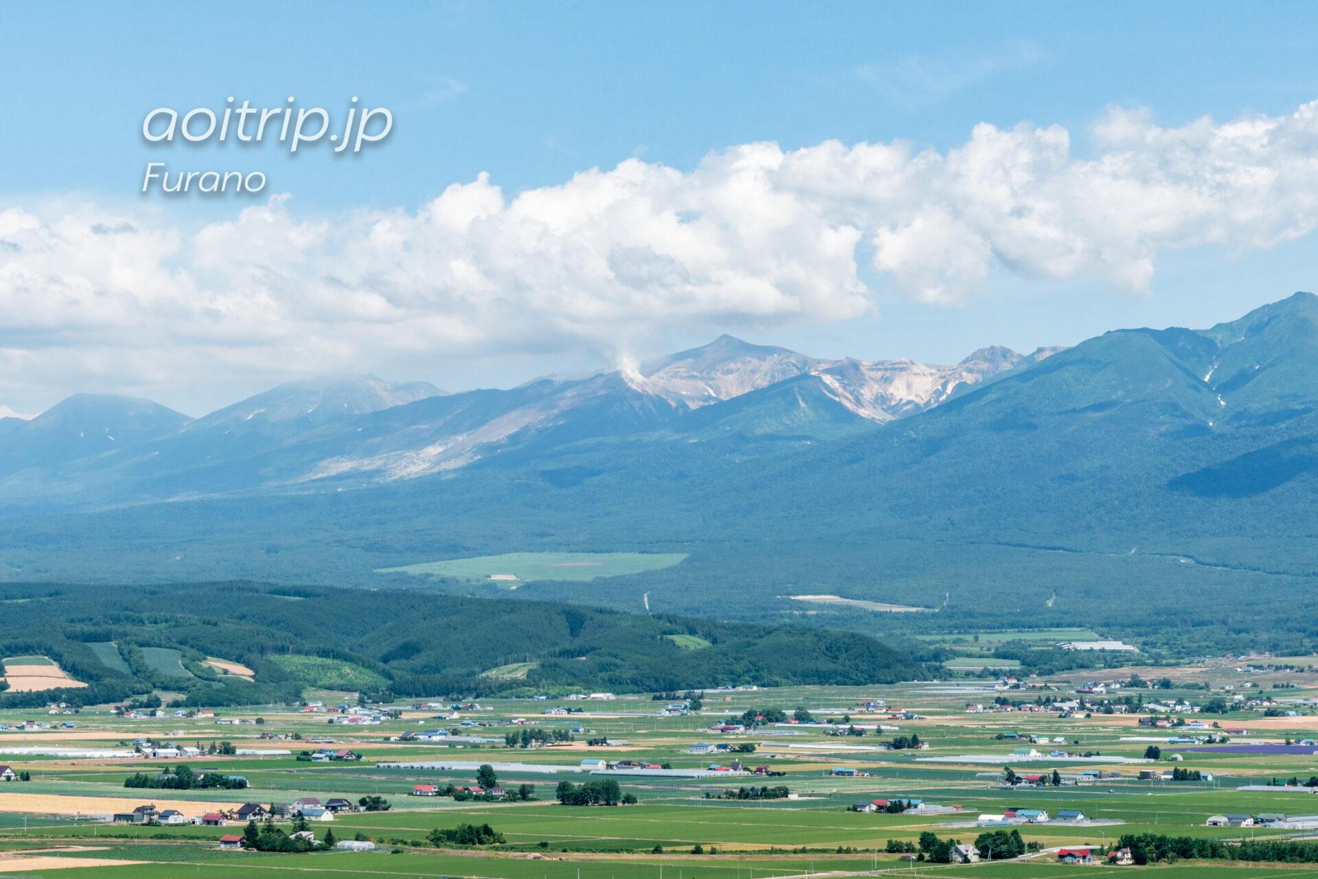 中富良野町営ラベンダー園(北星山)から望む十勝岳