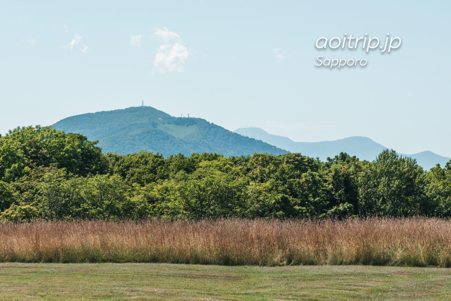 さっぽろ羊ヶ丘展望台から藻岩山・手稲山を望む