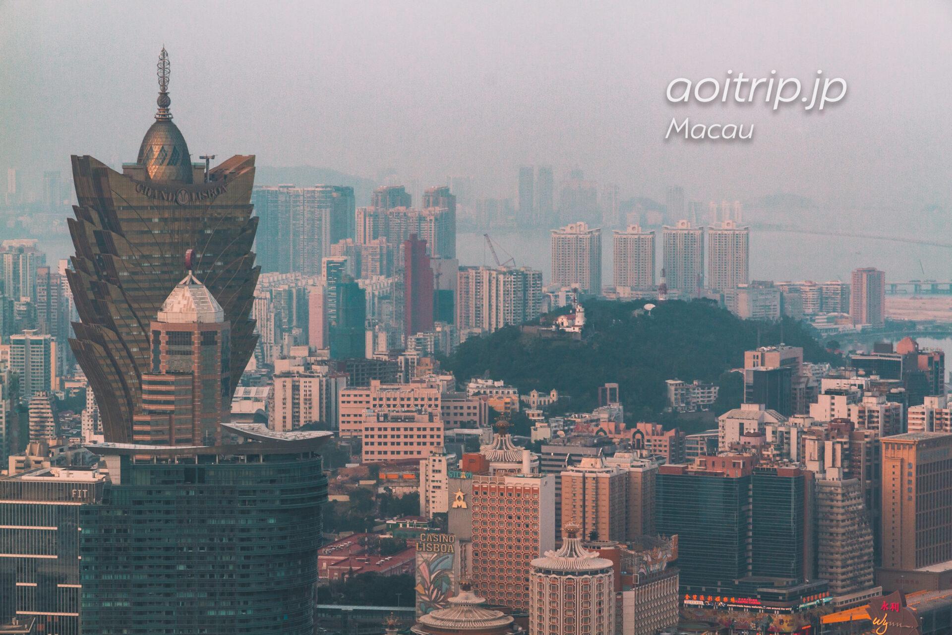 マカオタワー展望台の眺め